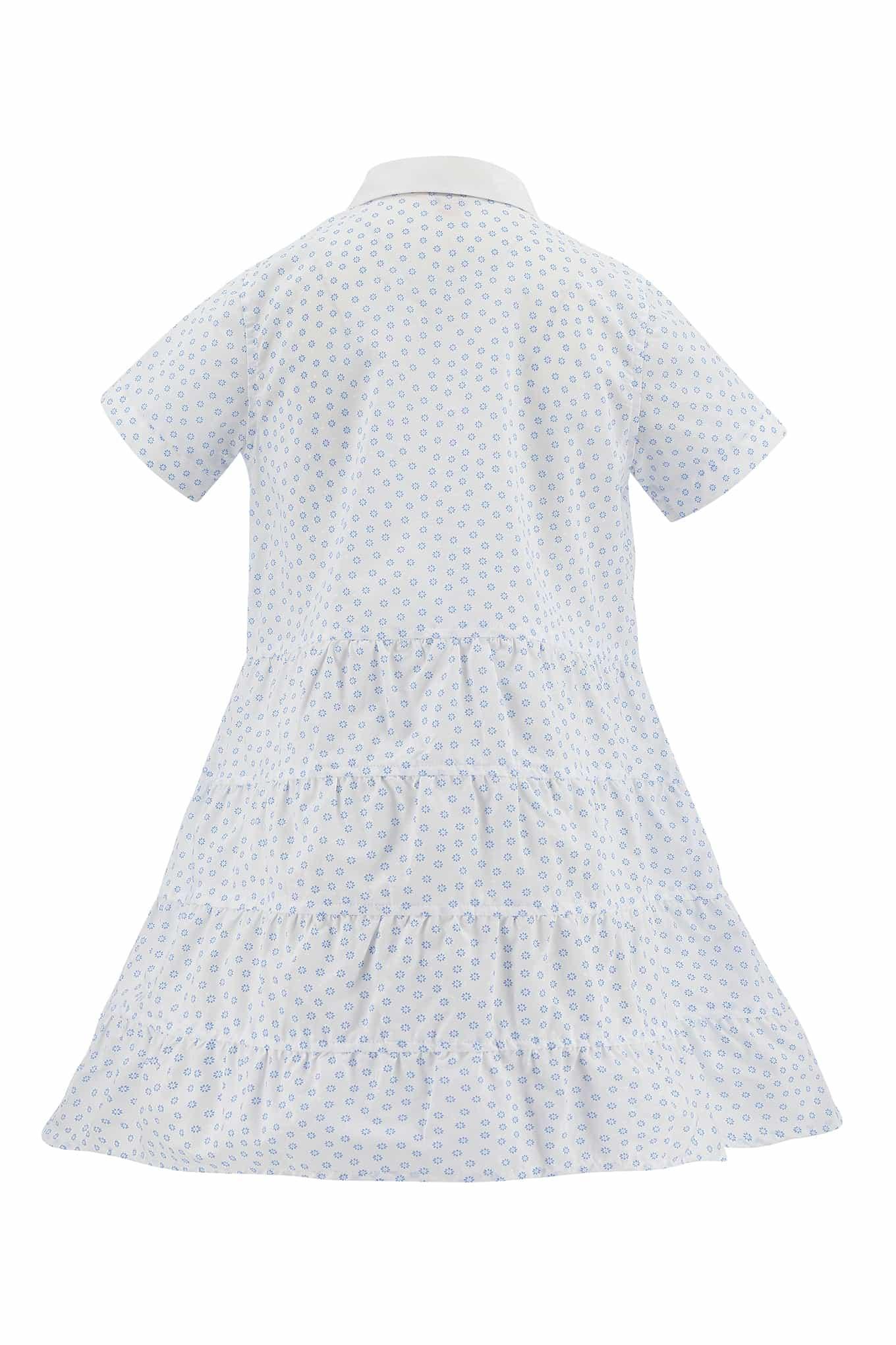 Vestido Camisaria Branco Casual Rapariga