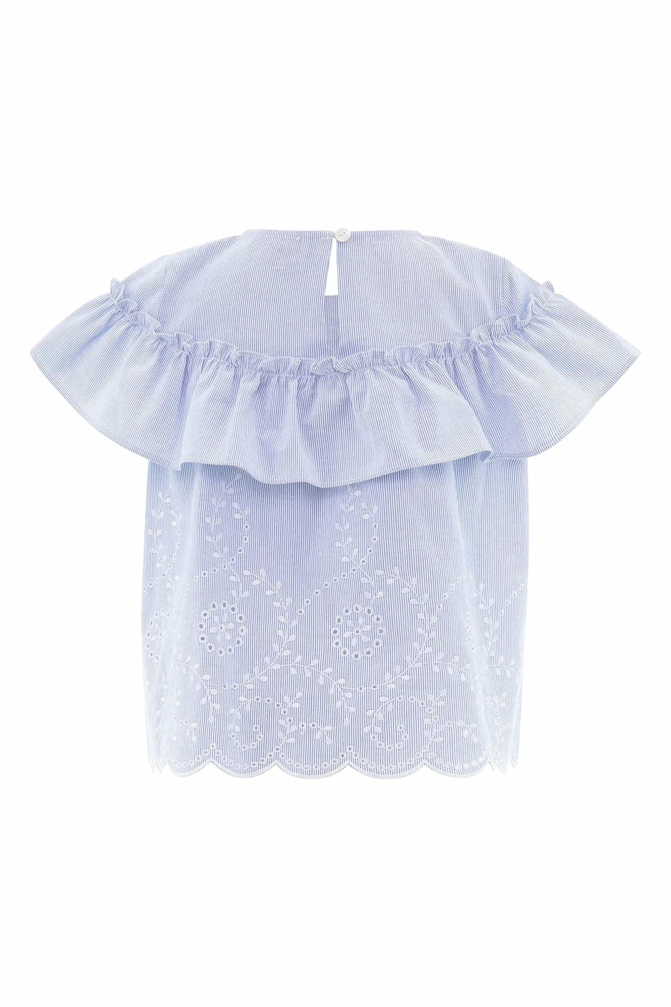 Blusa Azul Claro Casual Rapariga