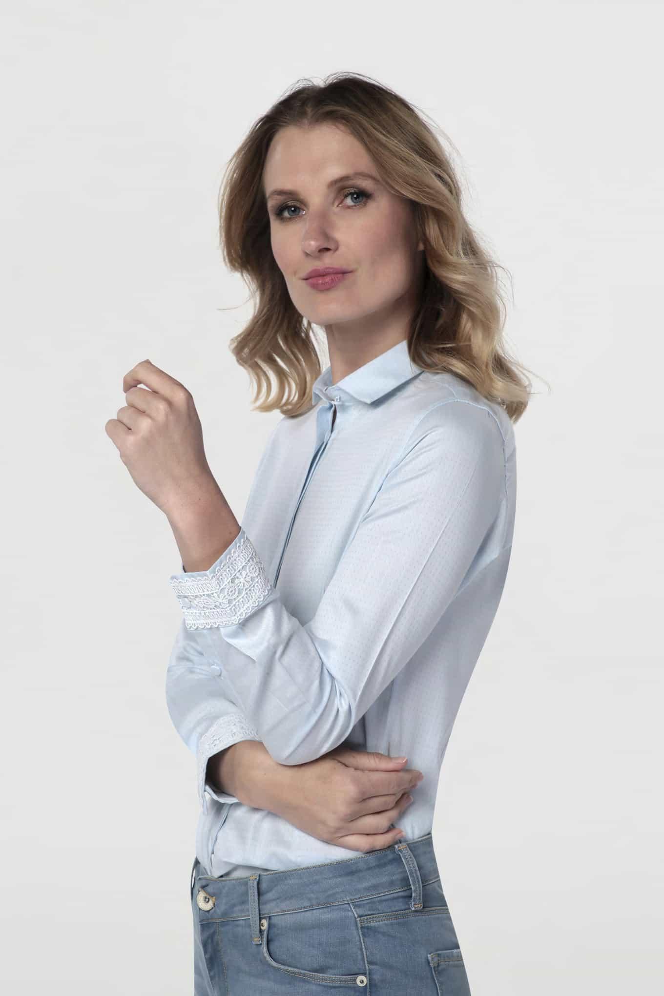 Camisa Turquesa Classic Mulher