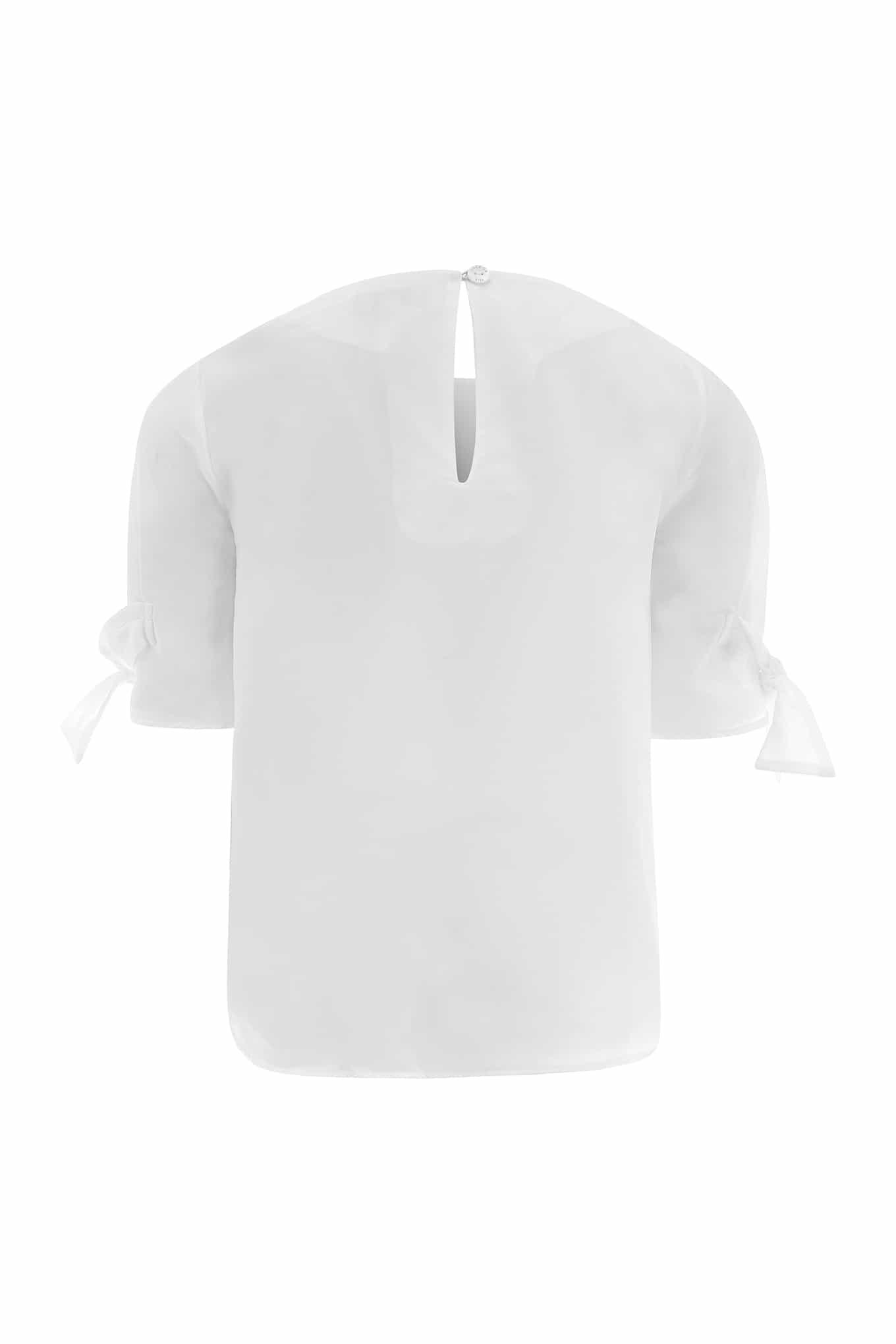 Blusa Branco Casual Rapariga