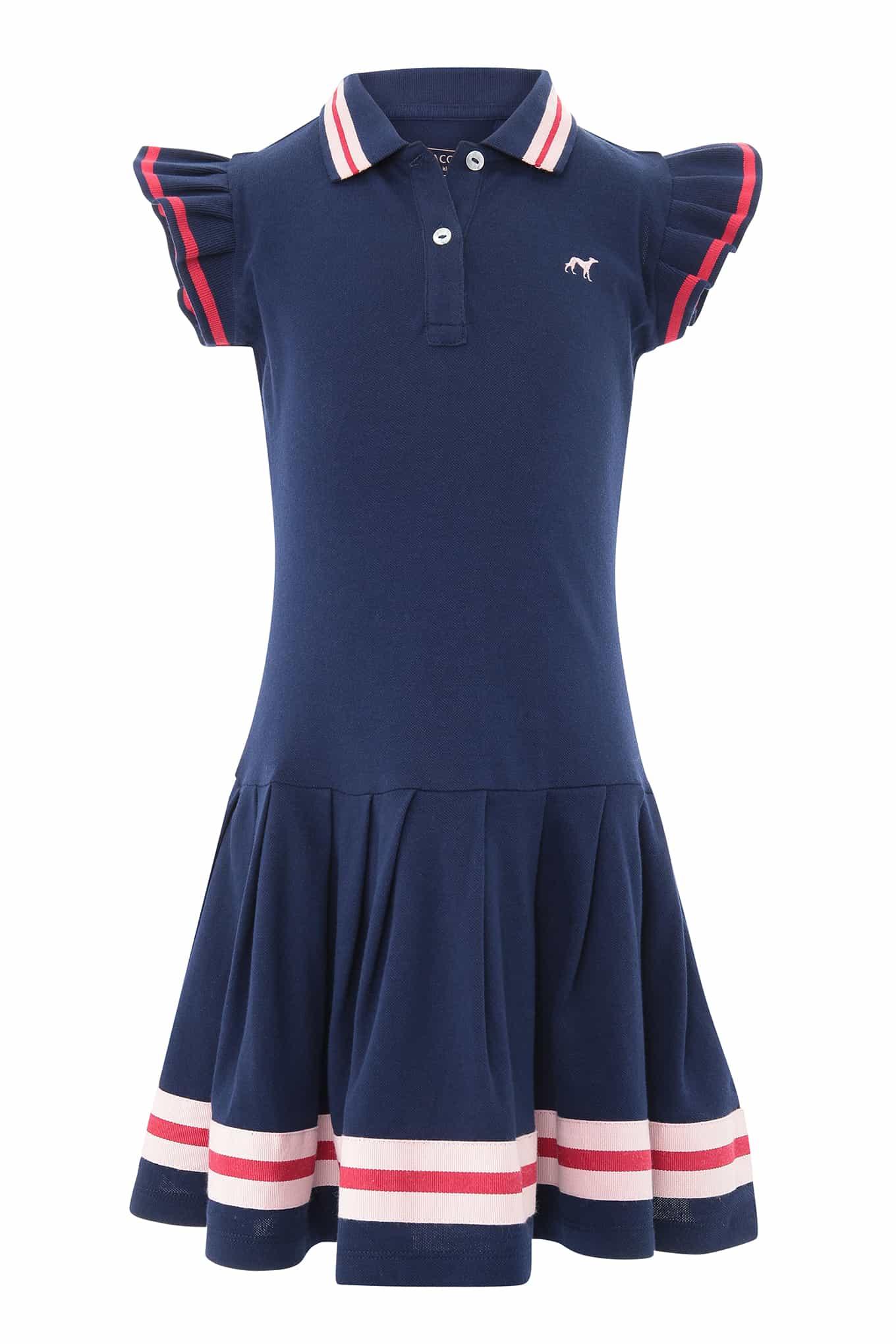 Vestido Piquet Azul Escuro Sport Rapariga