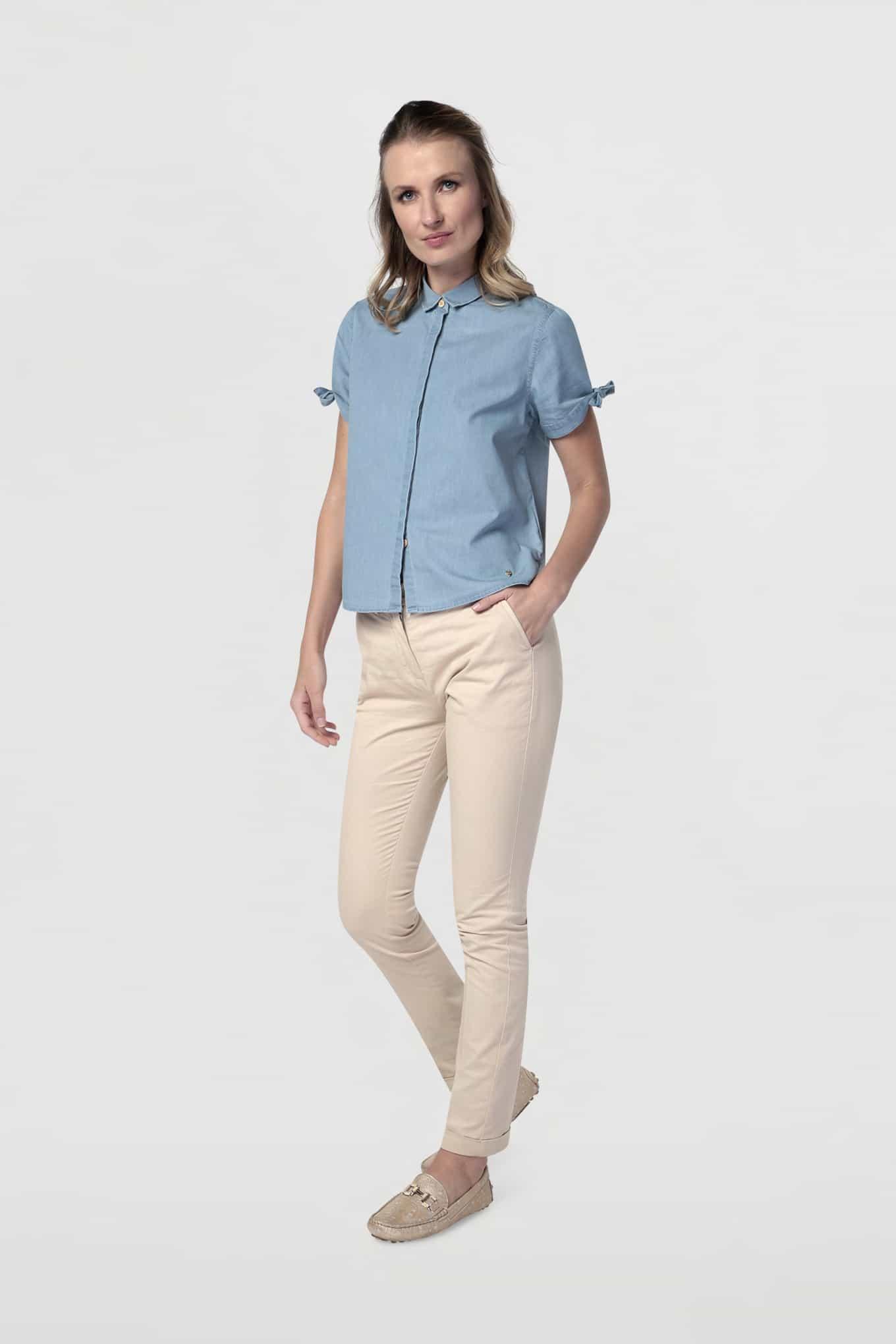 Shirt Blue Casual Woman