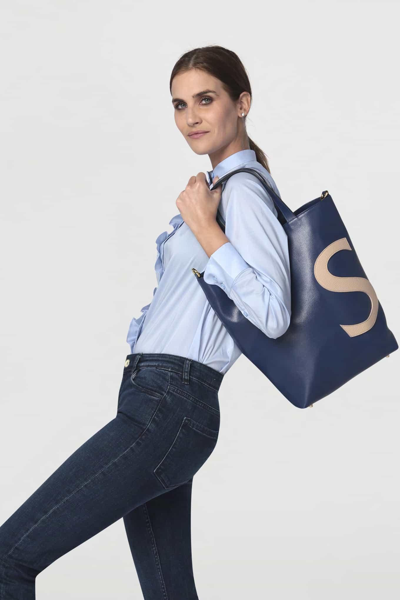 Shirt Light Blue Casual Woman