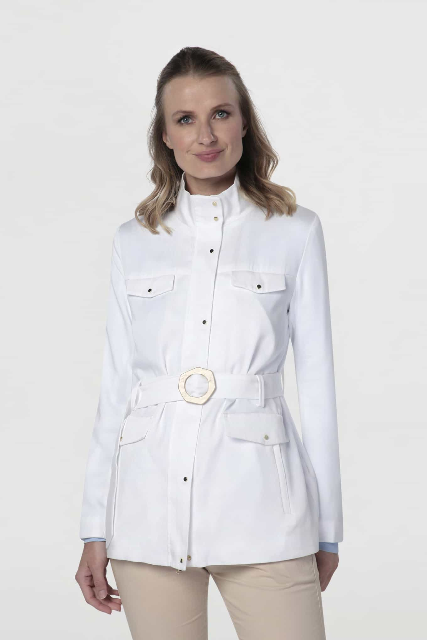 Jacket Ecru Casual Woman