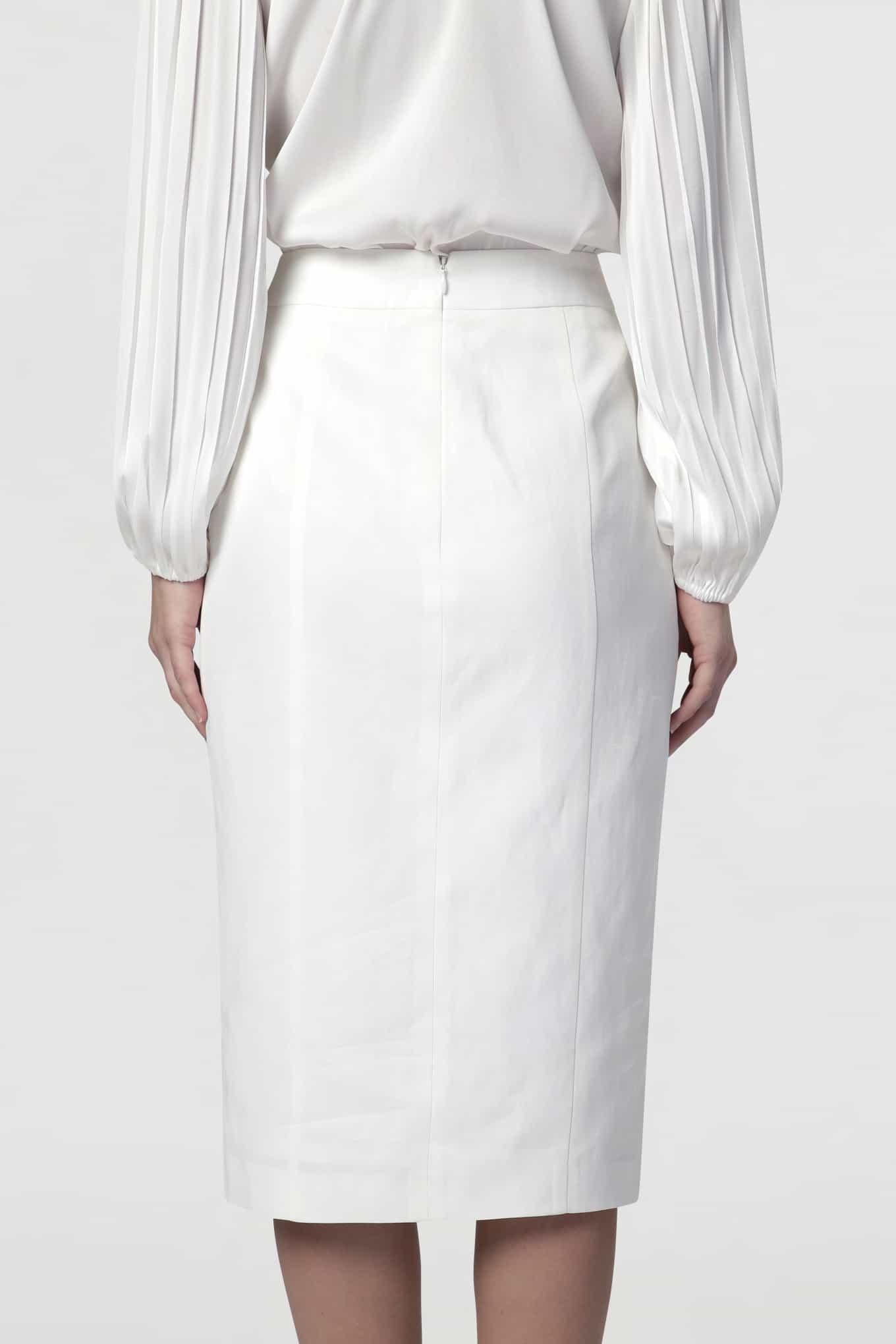 Skirt White Classic Woman