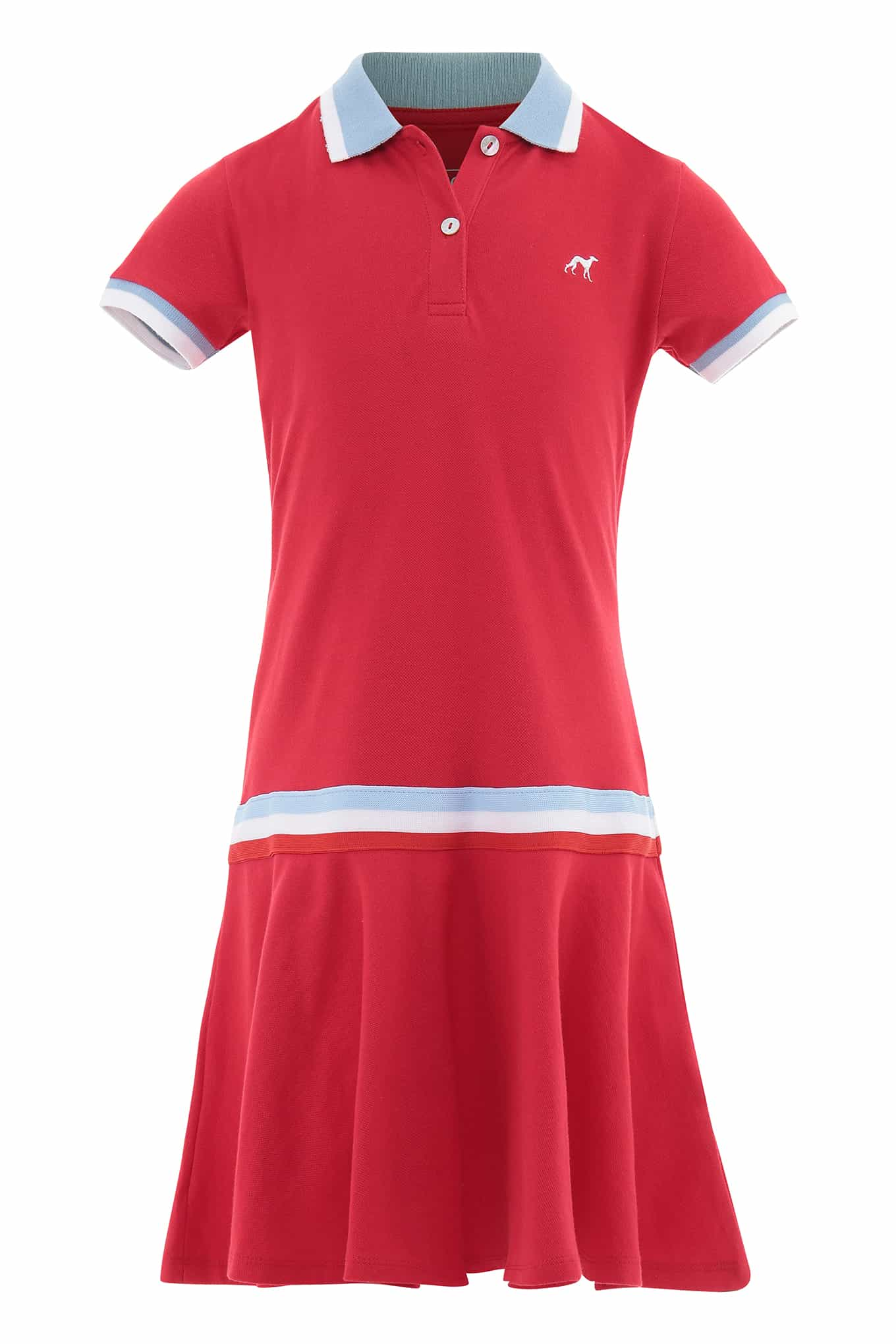 Dress Piquet Red Sport Girl
