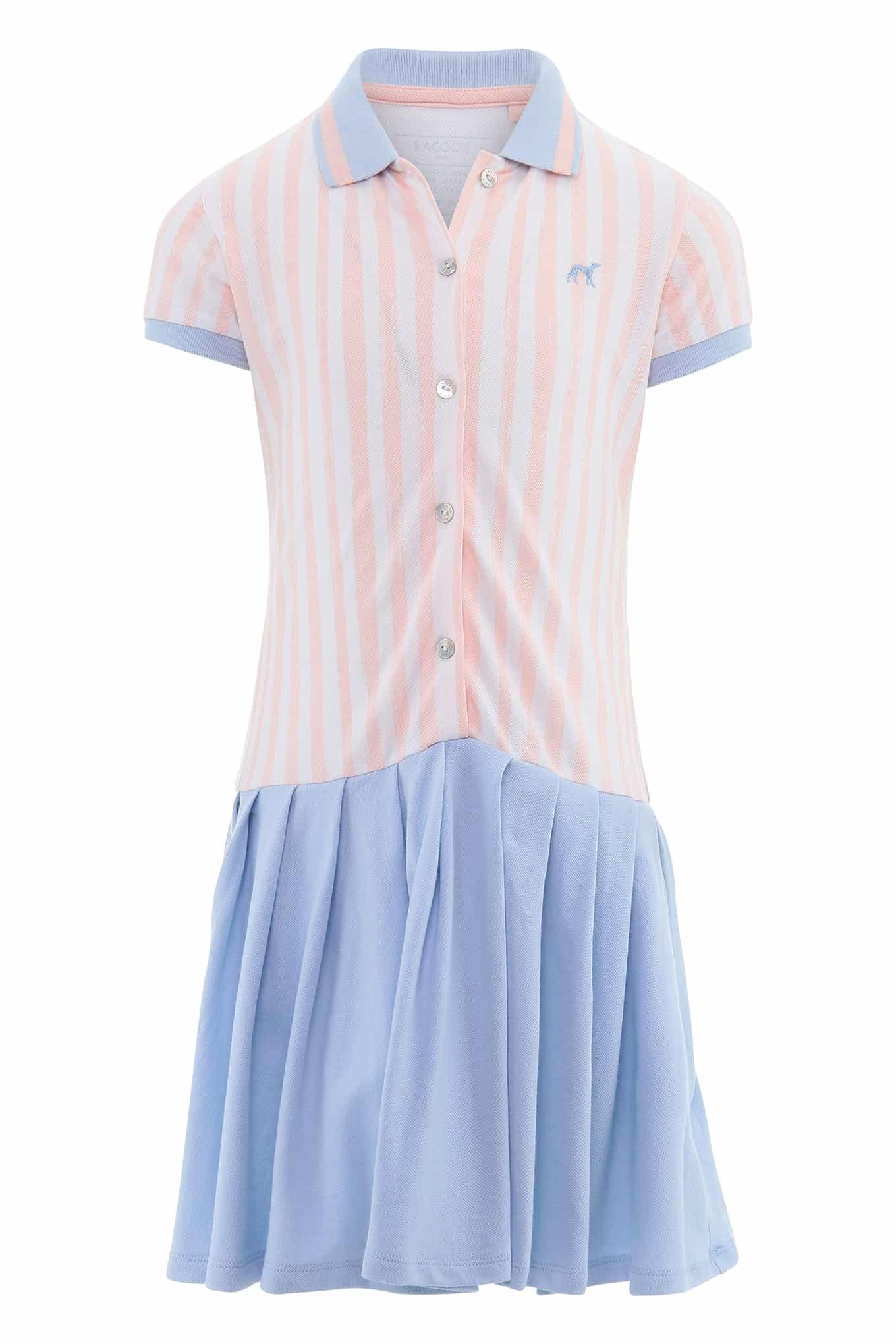 Vestido Piquet Branco Sport Rapariga