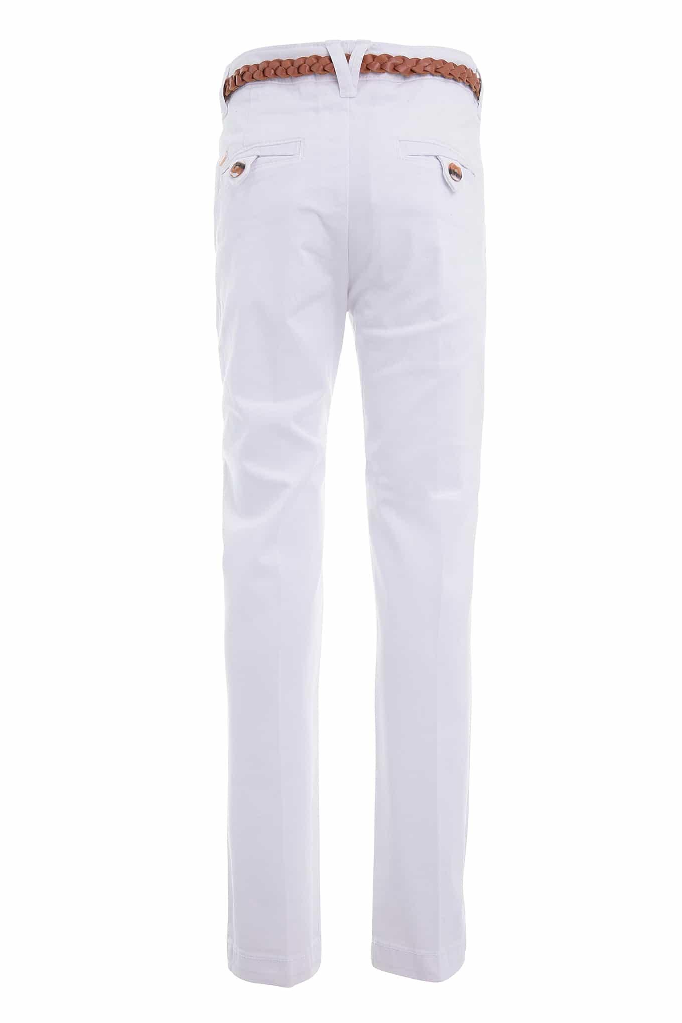 Calças Chino Branco Casual Rapariga