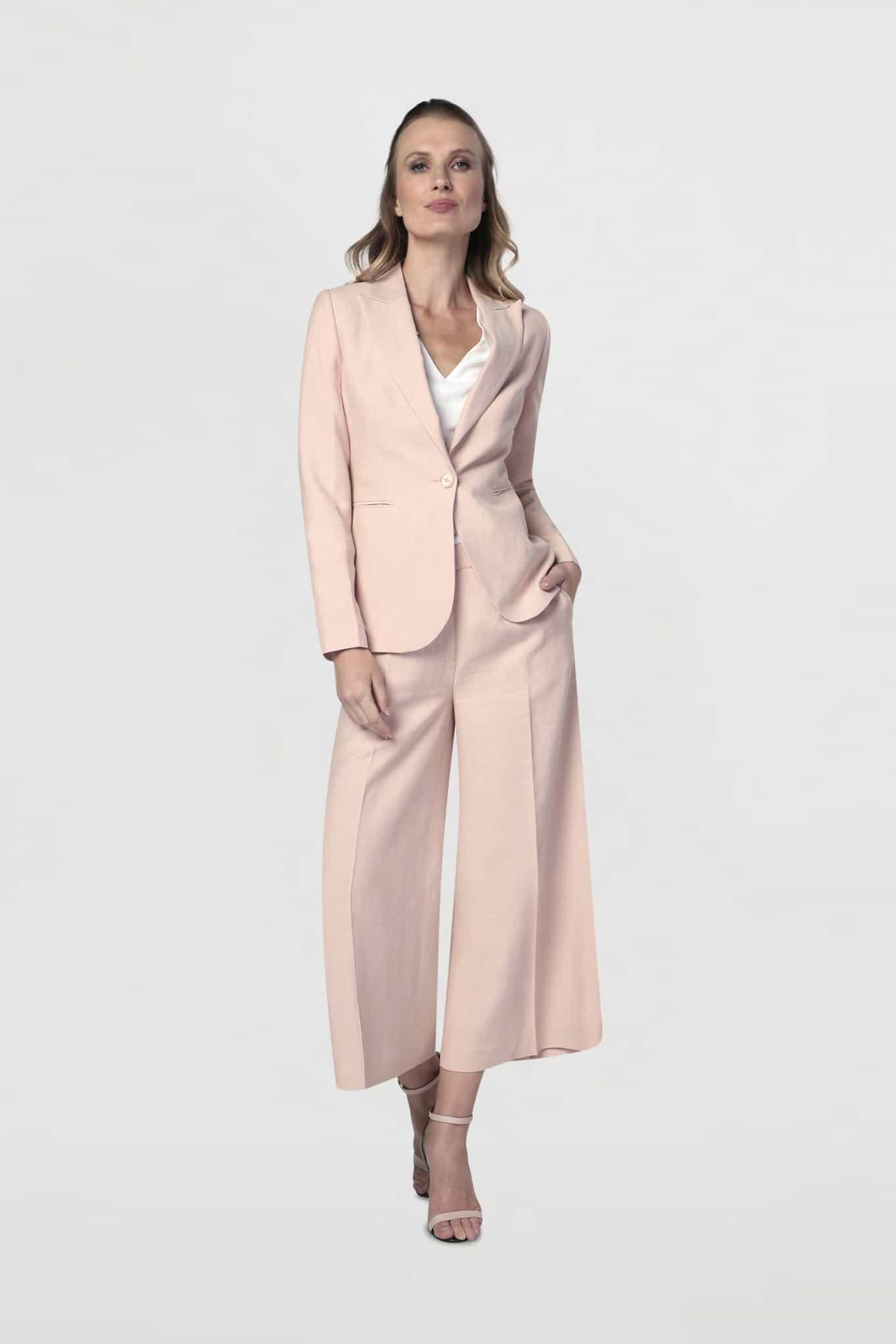 Blazer Pale Pink Classic Woman