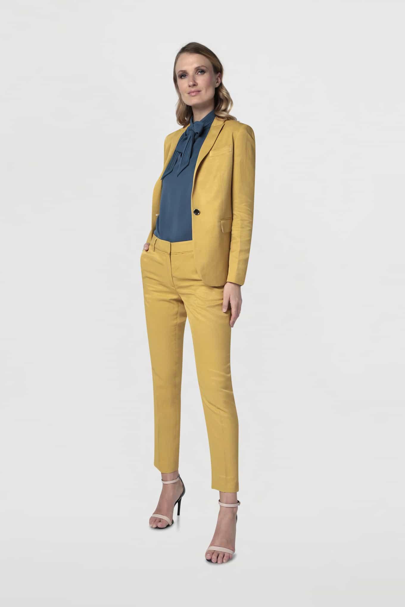 Blazer Yellow Classic Woman