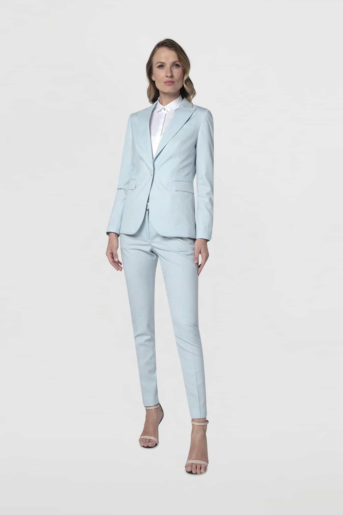 Suit Light Blue Classic Woman