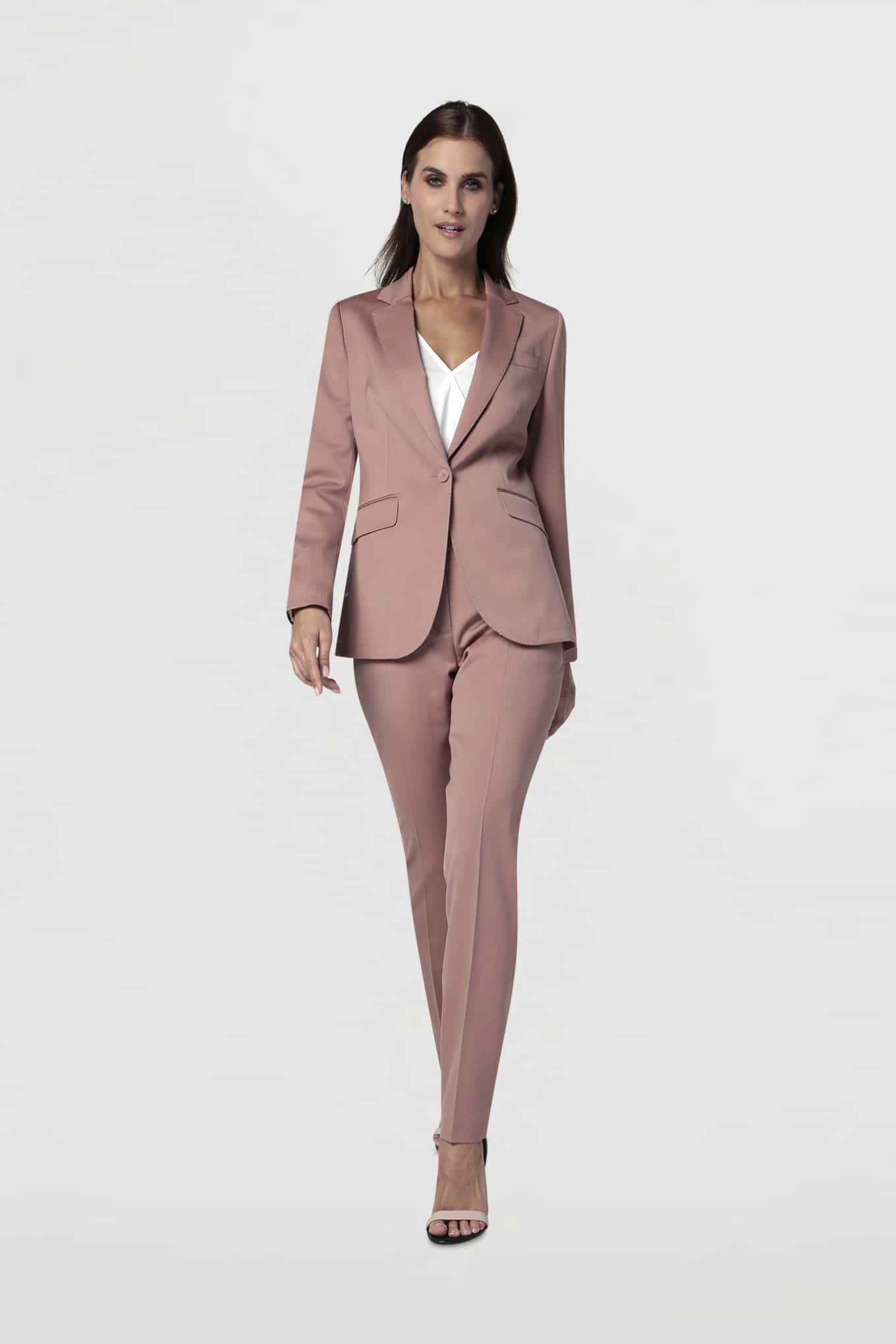 Suit Dark Pink Classic Woman