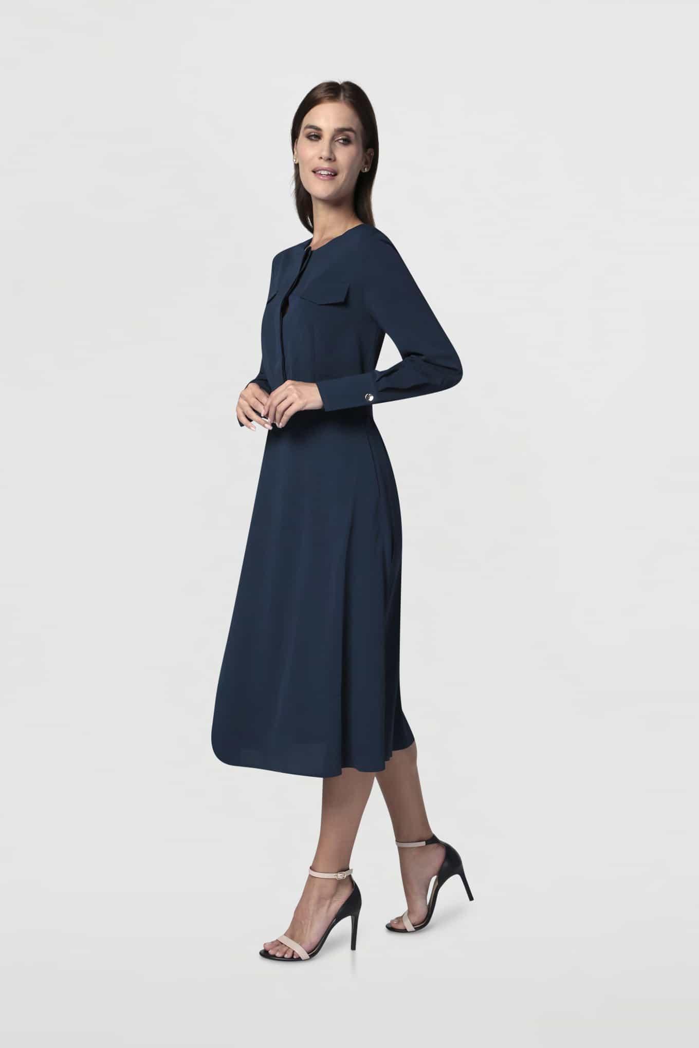 Vestido Azul Escuro Fantasy Mulher