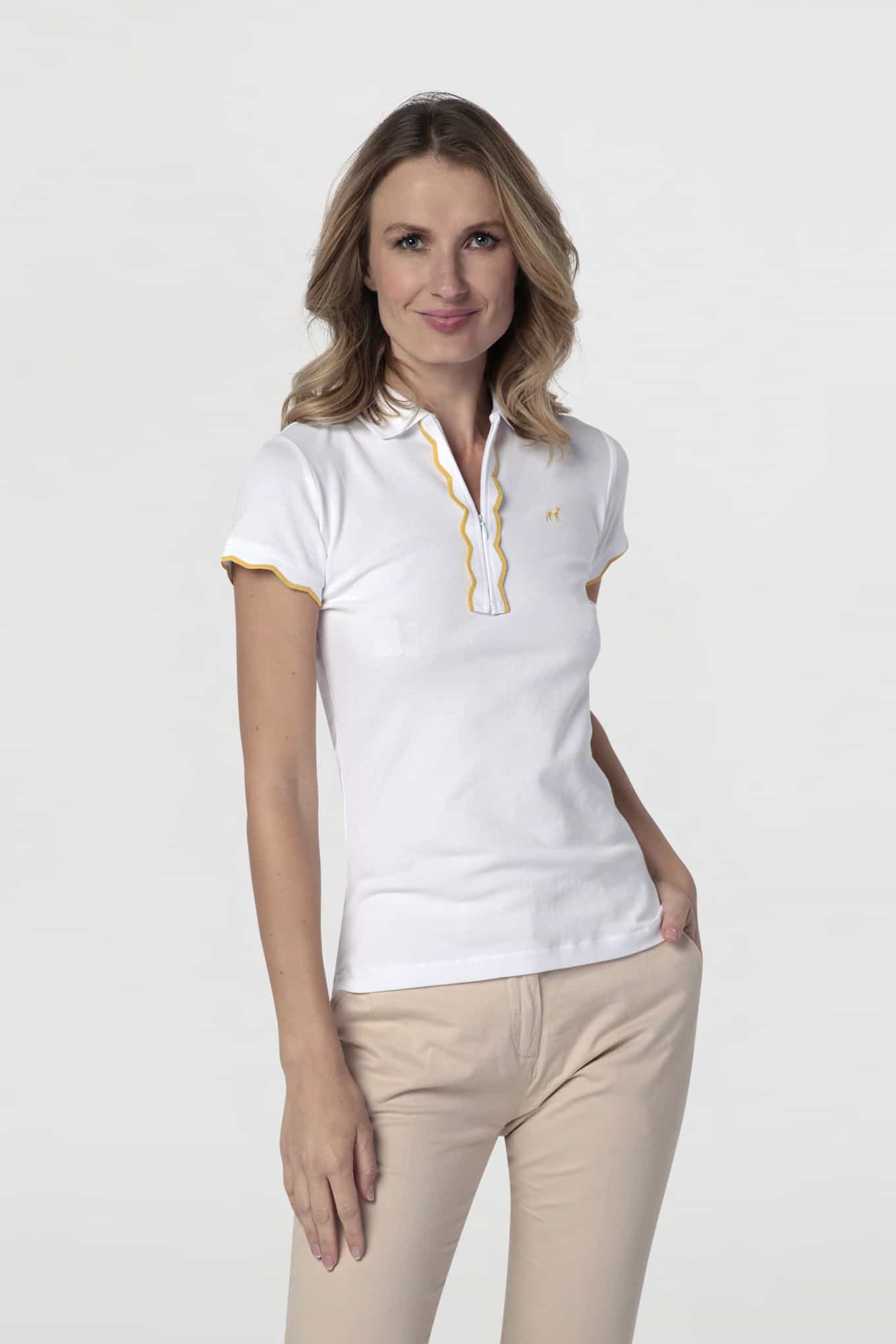 Polo Piquet White Sport Woman