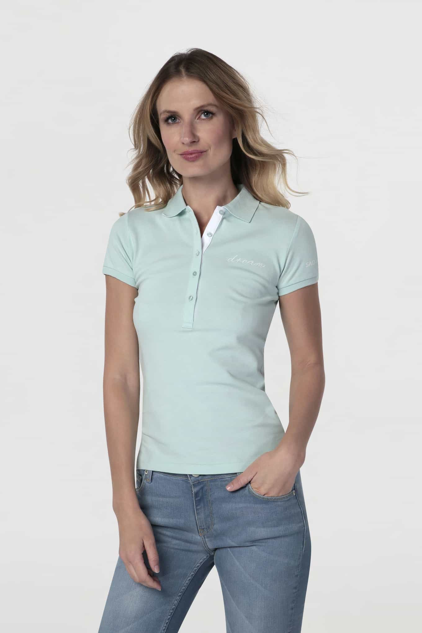 Polo Piquet Turquoise Sport Woman