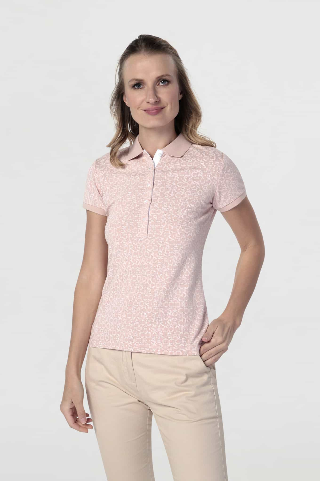 Polo Piquet Light Pink Sport Woman