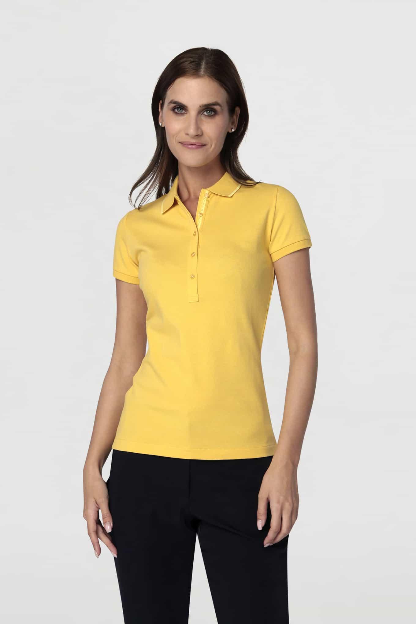 Polo Piquet Amarelo Sport Mulher