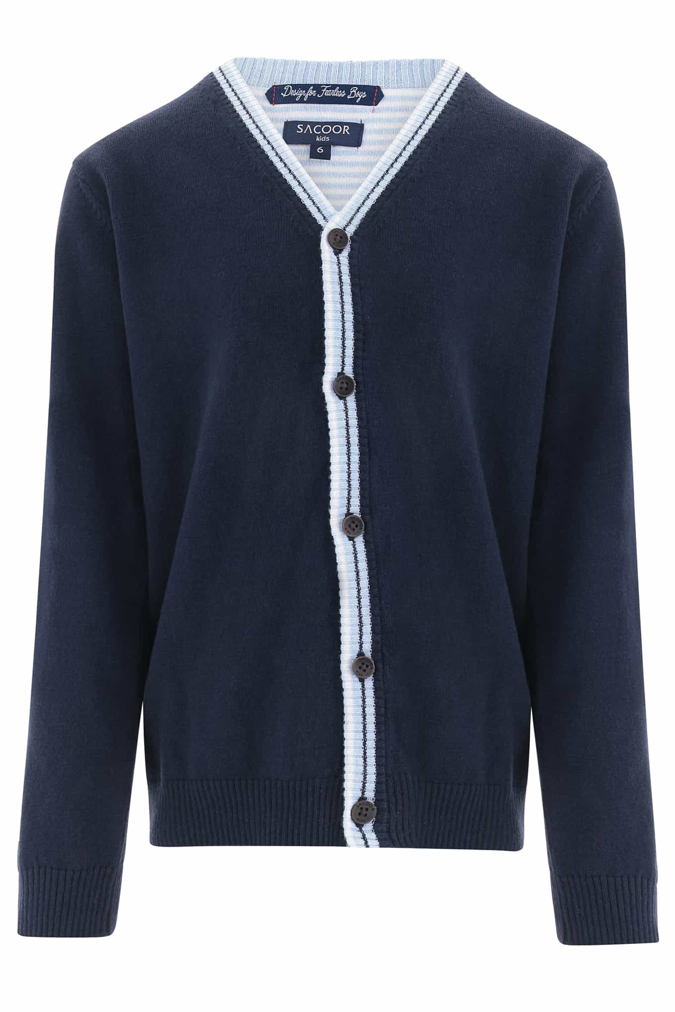 Cardigan Dark Blue Casual Boy