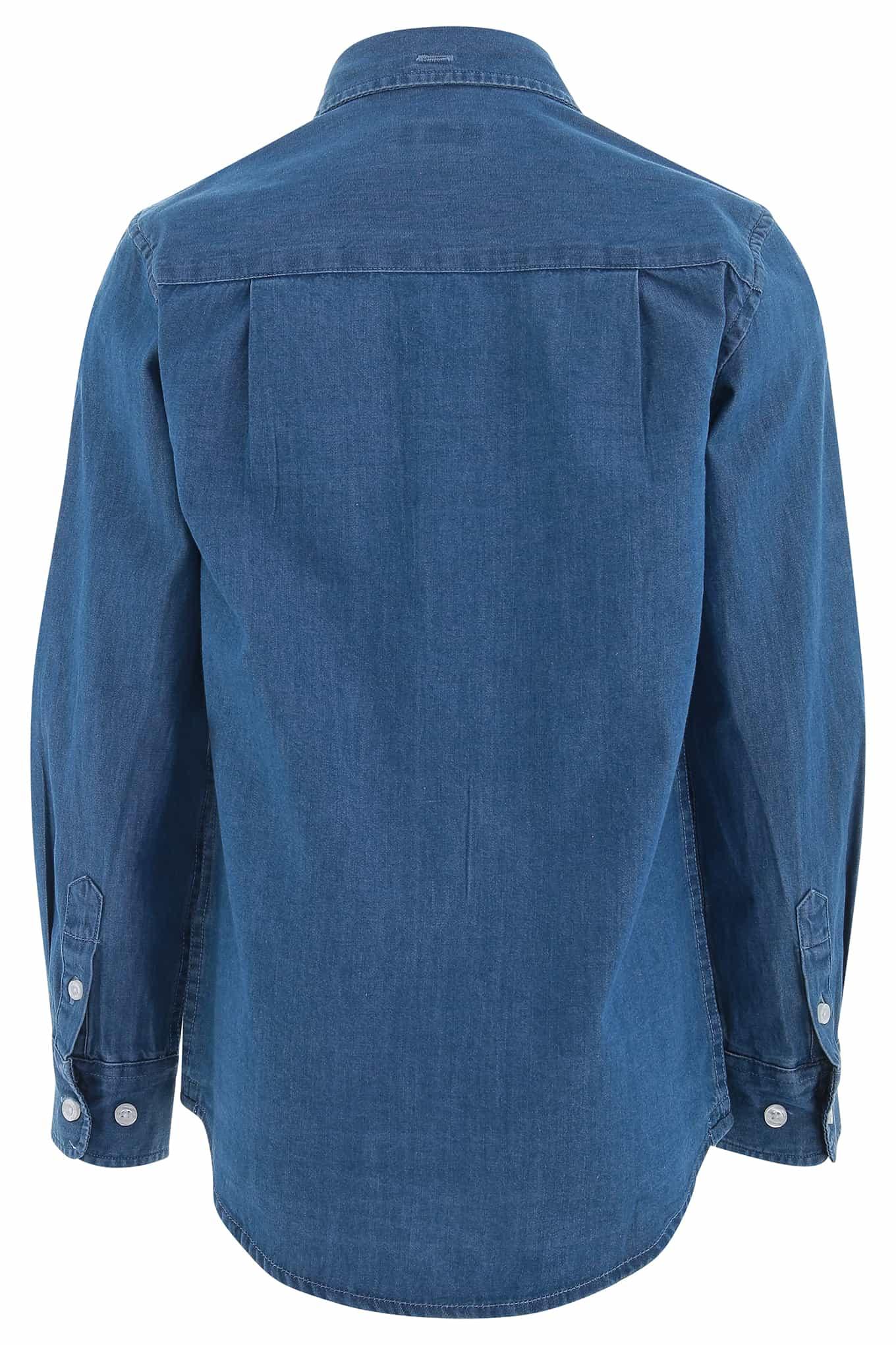 Shirt Medium Blue Casual Boy