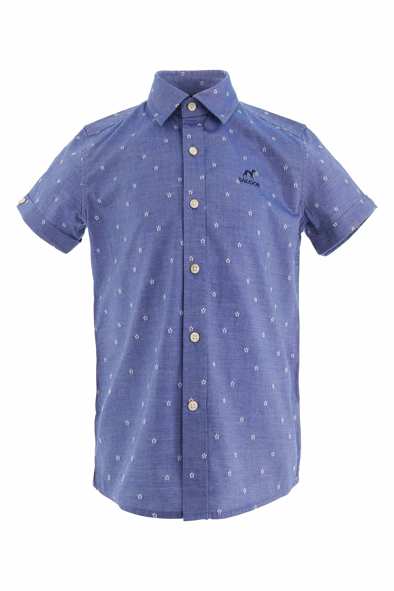 Shirt Medium Blue Casual Boy
