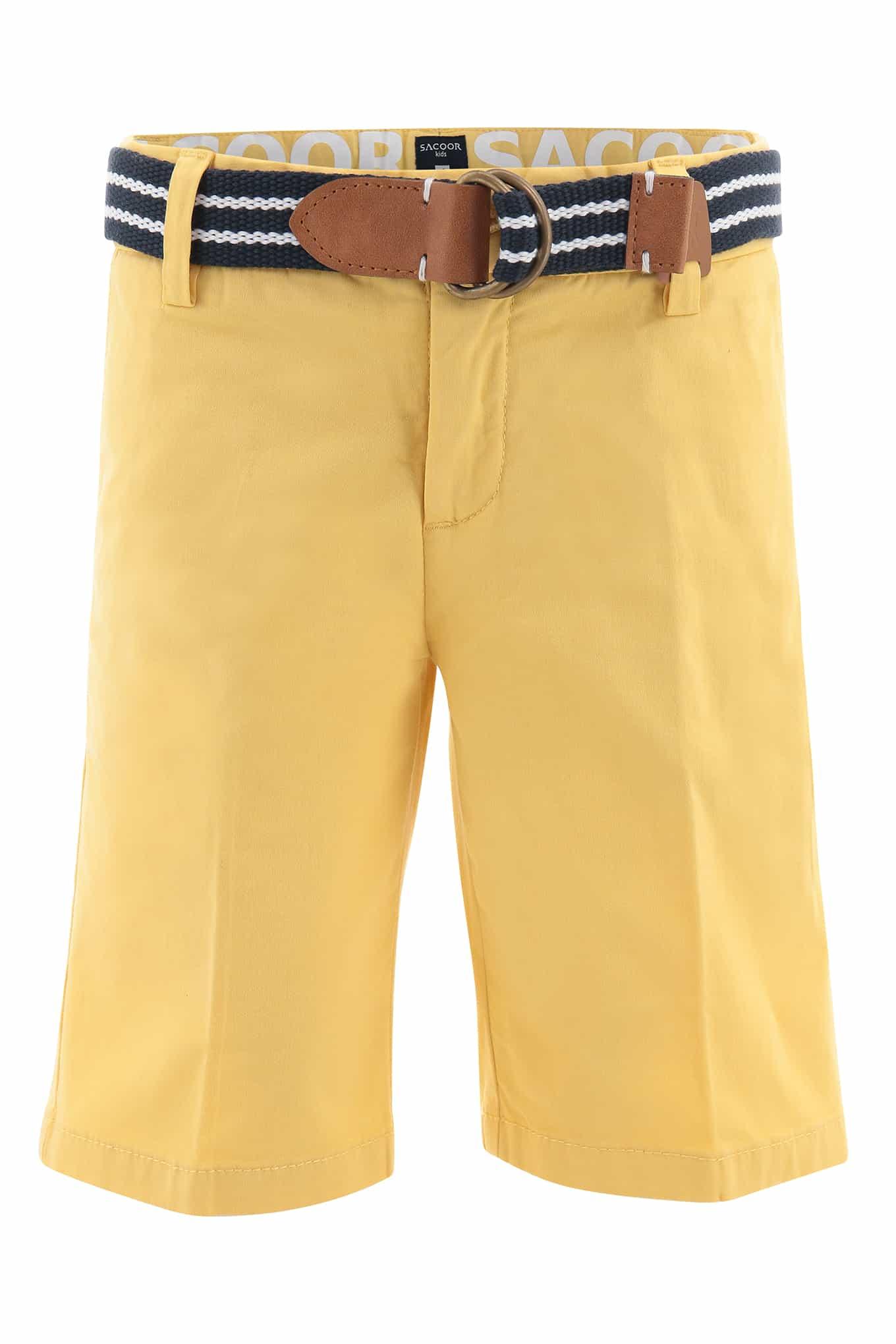 Bermuda Light Yellow Sport Boy