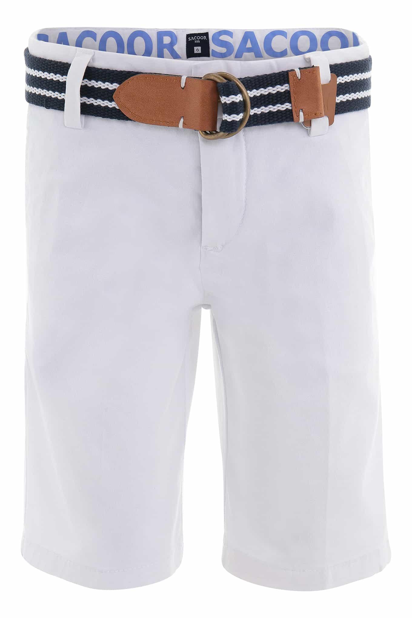 Bermuda White Sport Boy