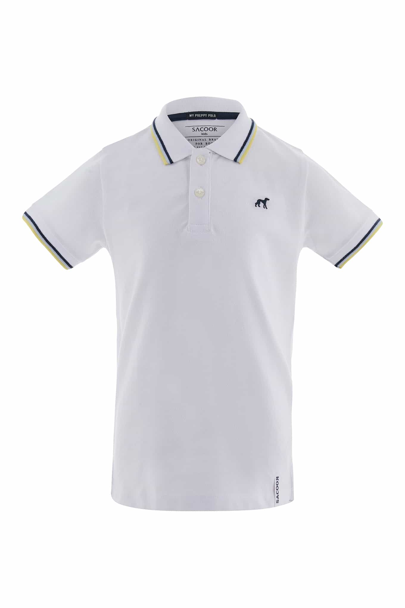 Polo Piquet White Sport Boy