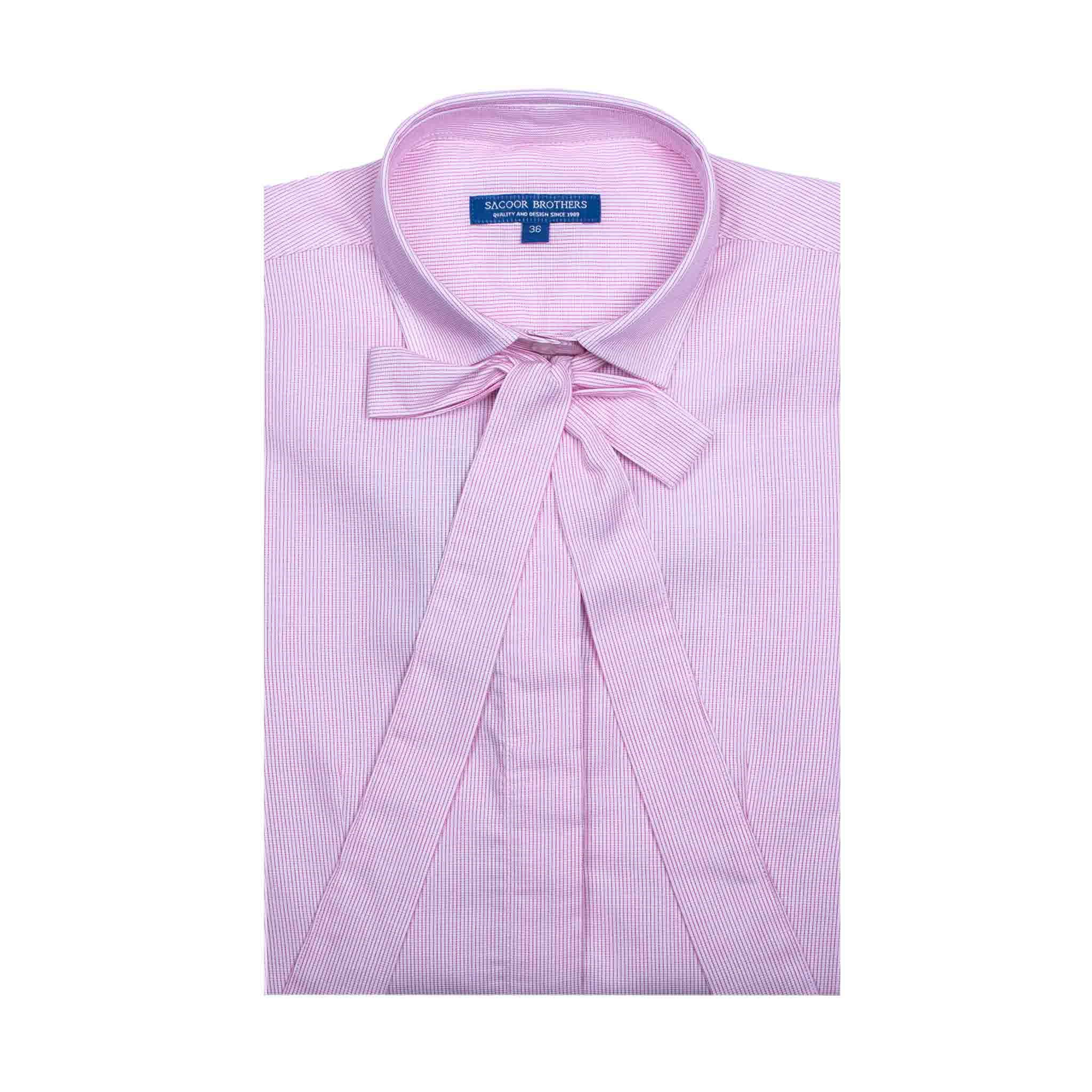 Camisa Rosa Casual Mulher