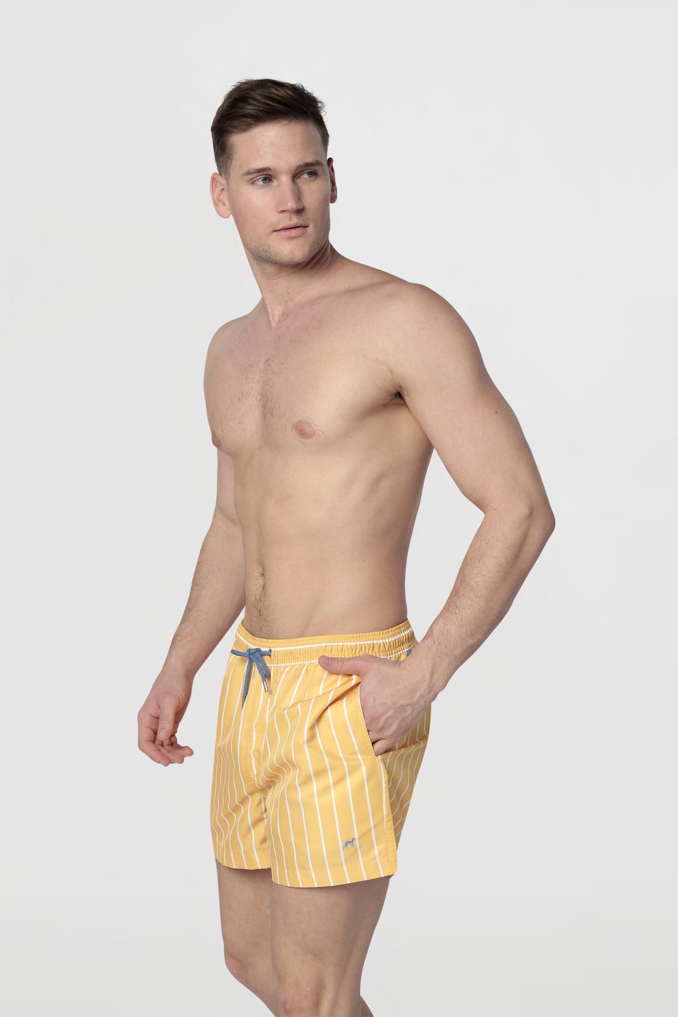 Beachwear Shorts Yellow Sport Man