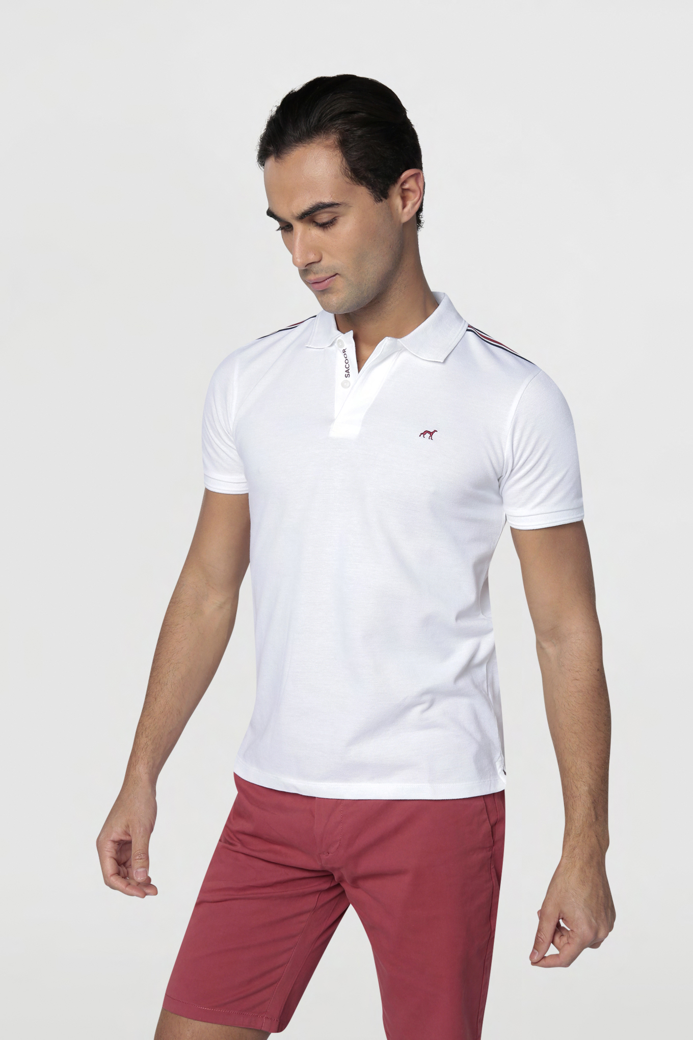 Polo Piquet White Casual Man