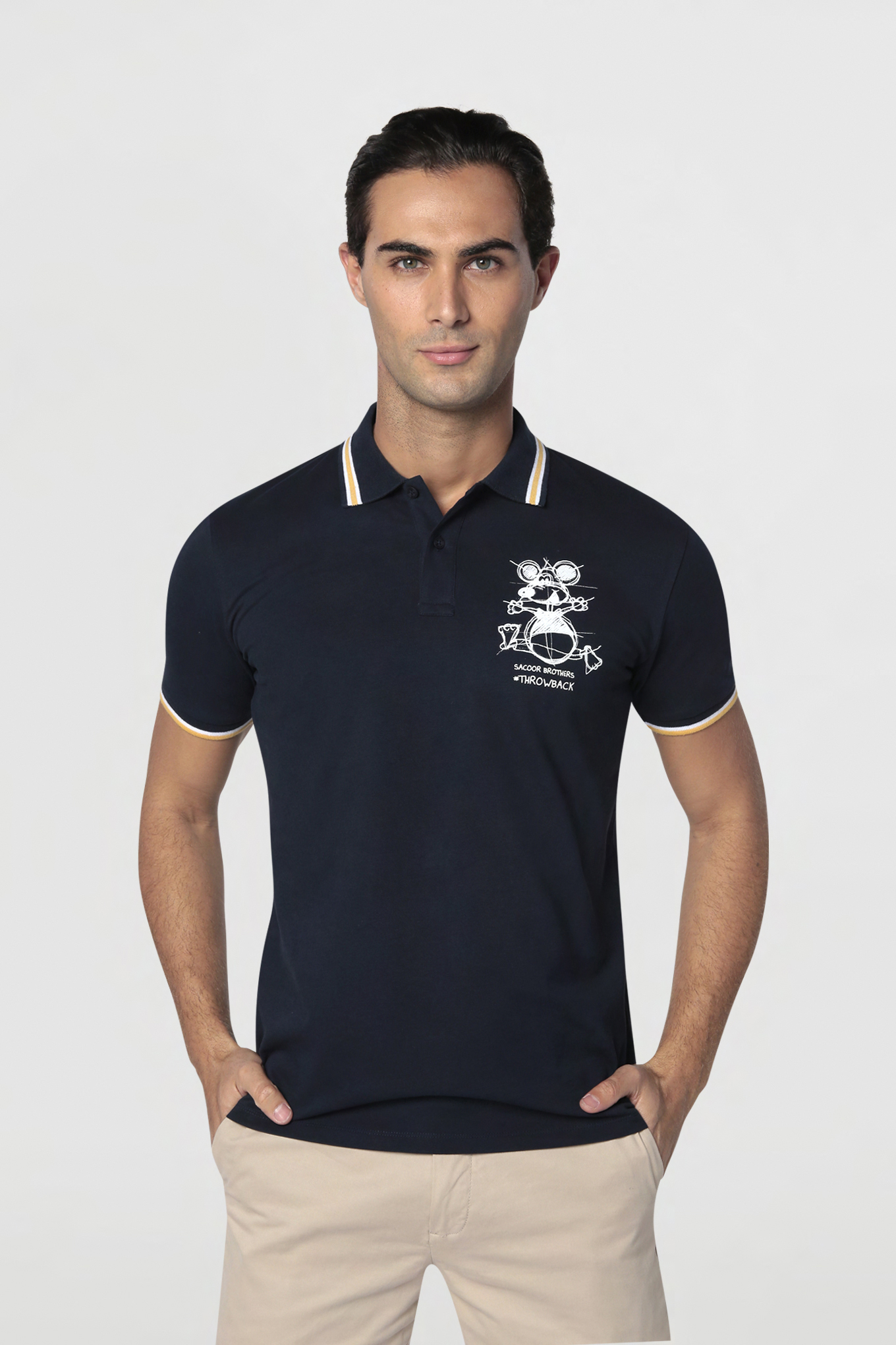 Polo Piquet Dark Blue Casual Man