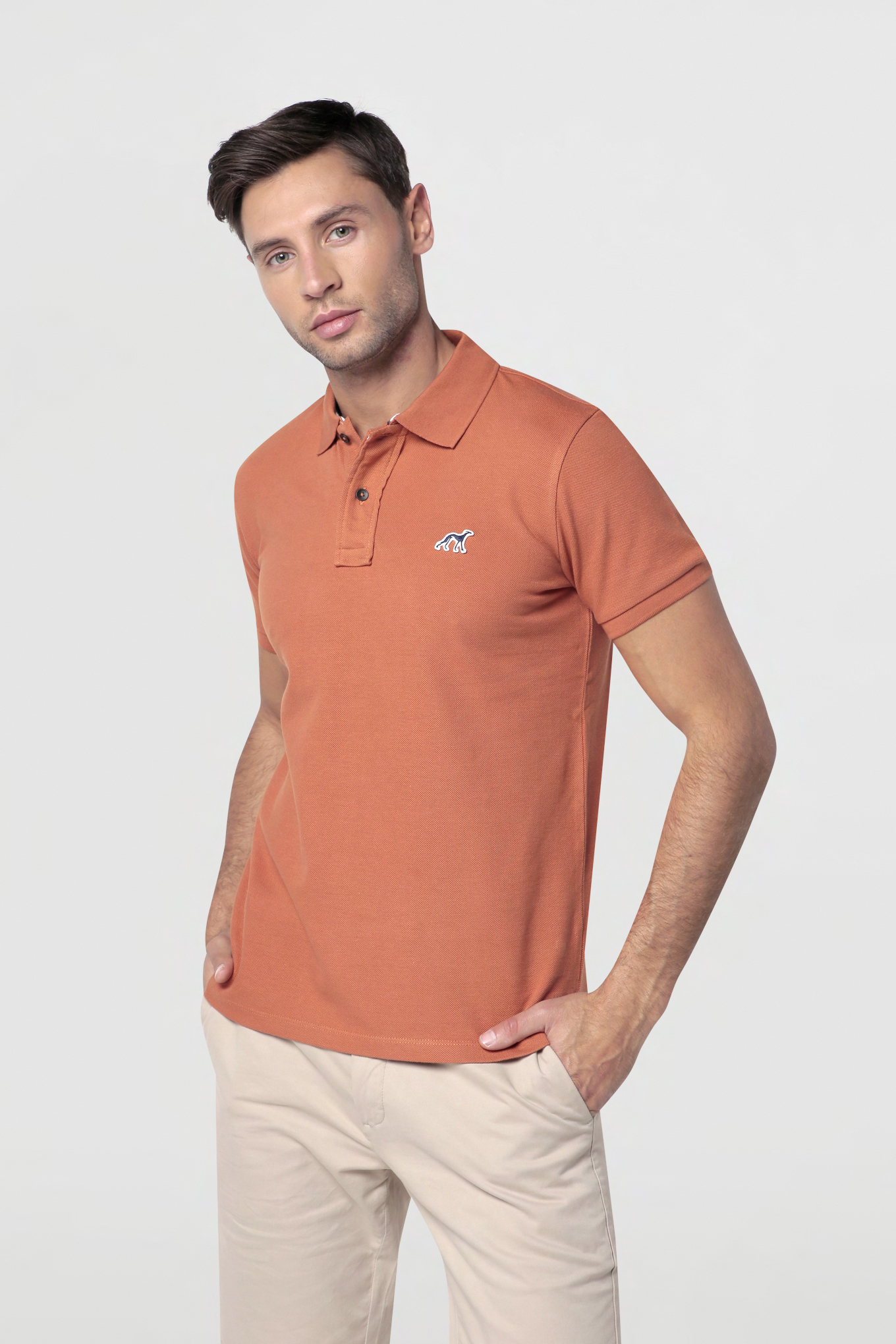 Polo Piquet Dark Orange Sport Man