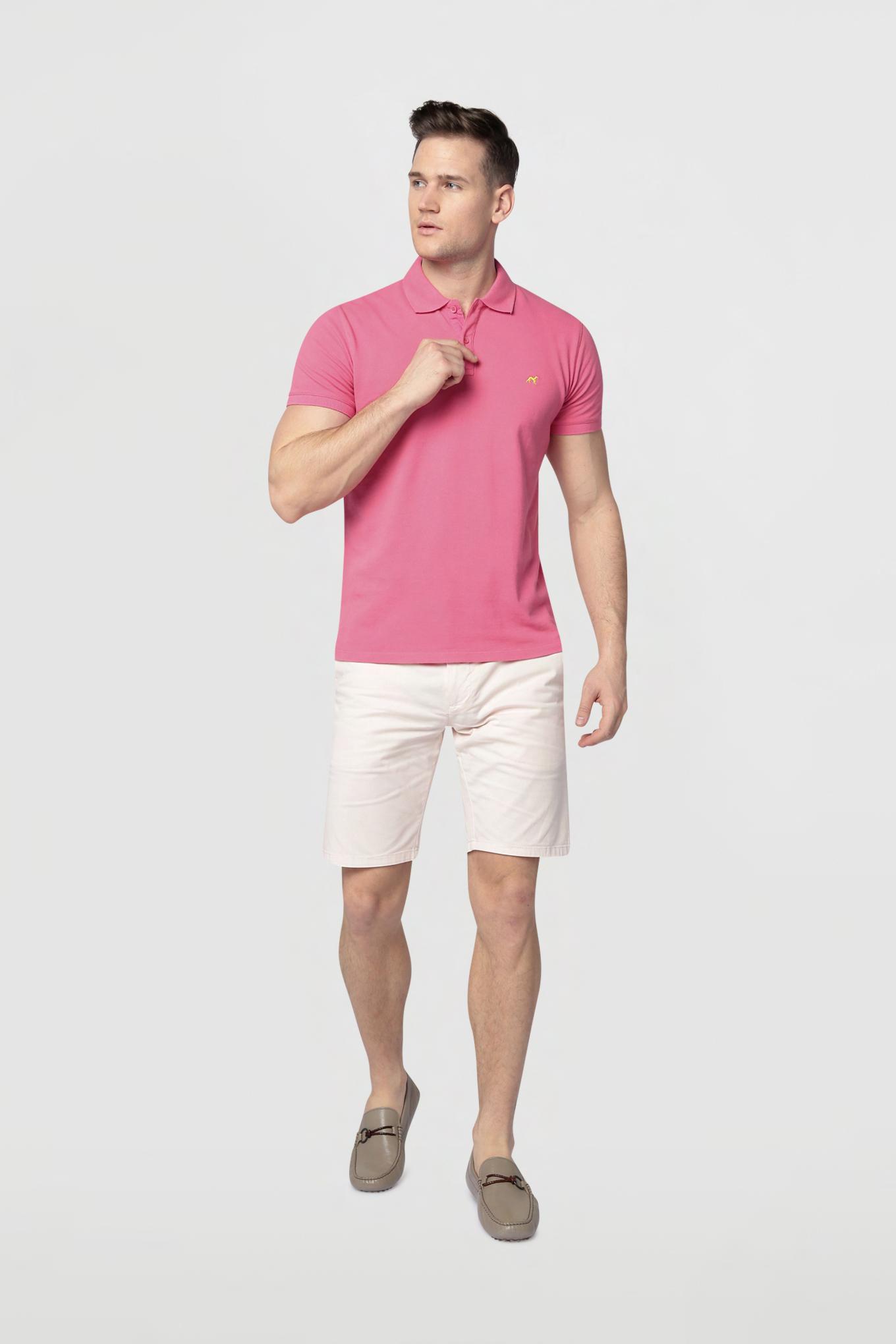 Polo Piquet Pink Sport Man