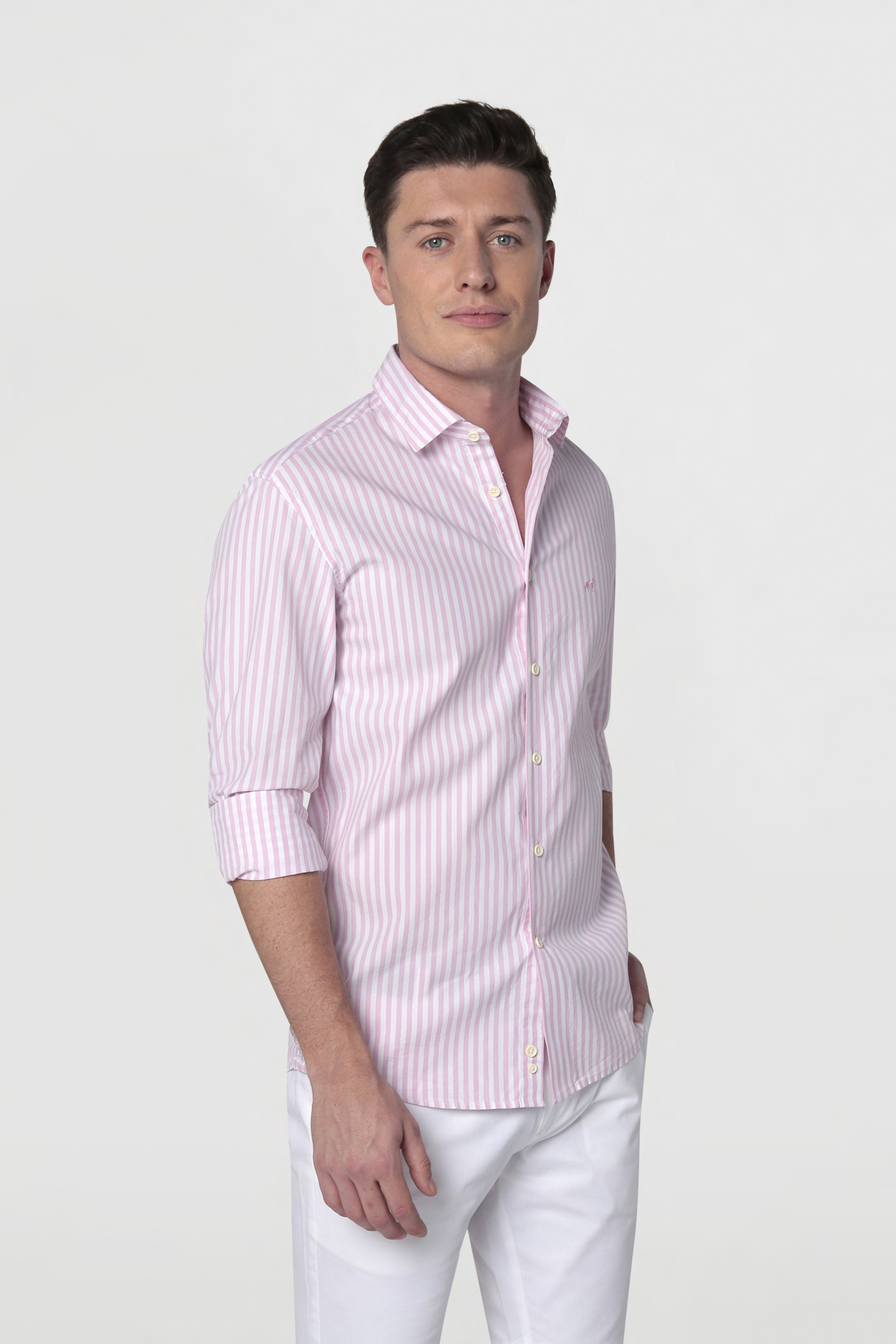 Shirt Light Pink Casual Man