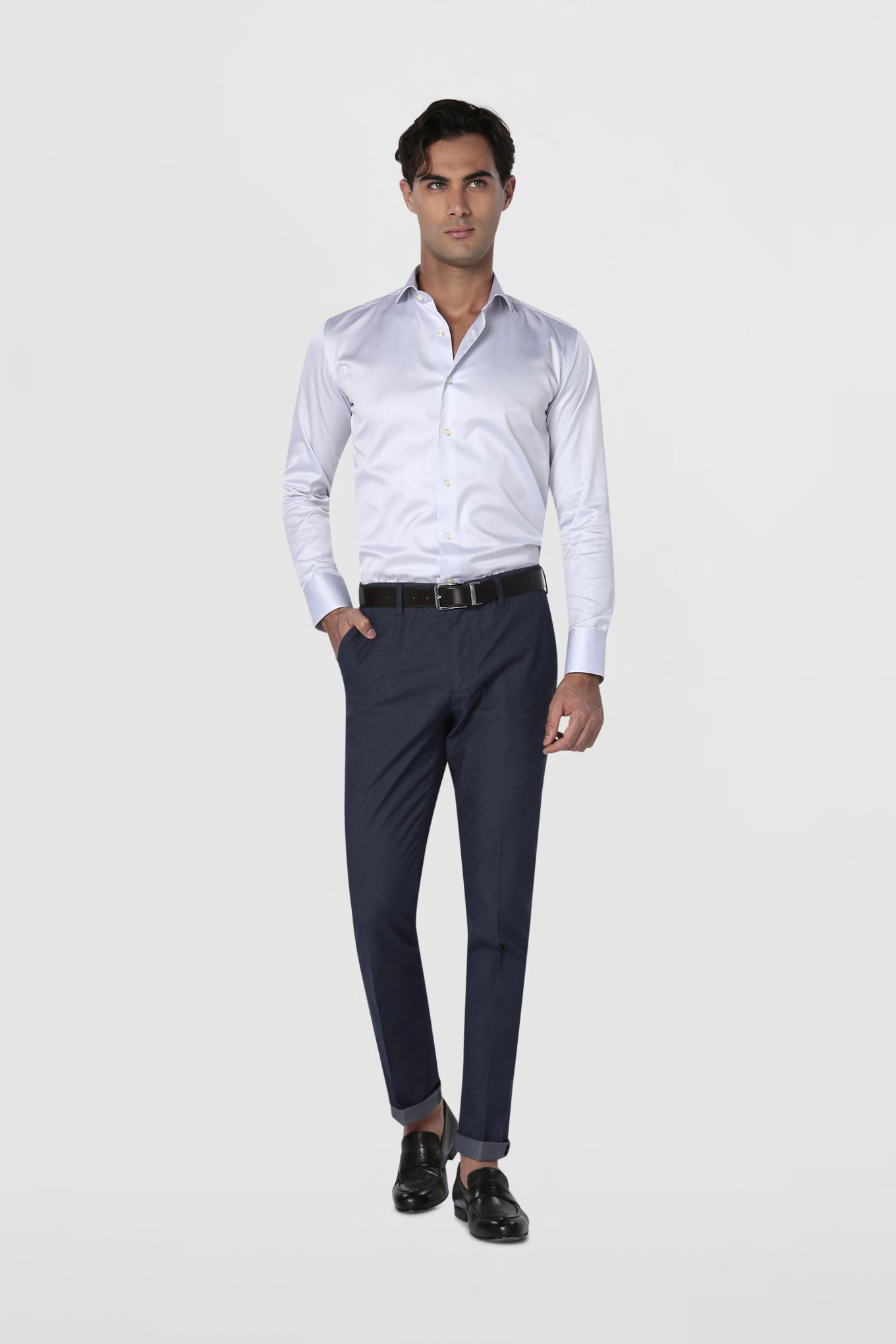 Shirt Light Grey Classic Man