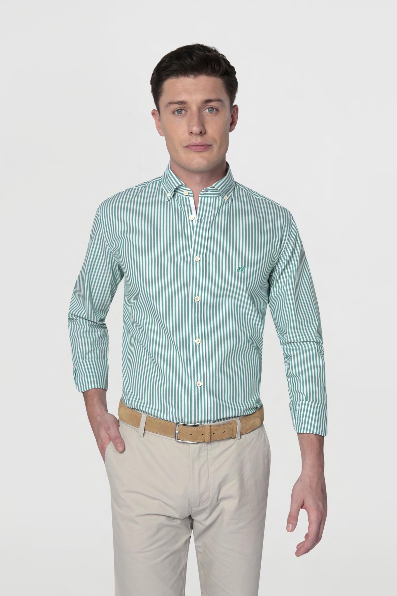 Shirt Green Sport Man