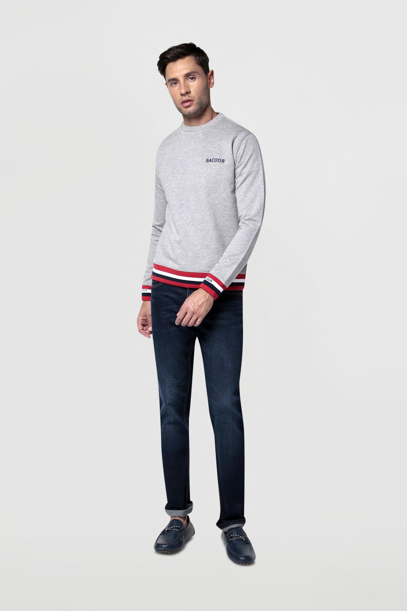 Sweatshirt Cinza Claro Sport Homem