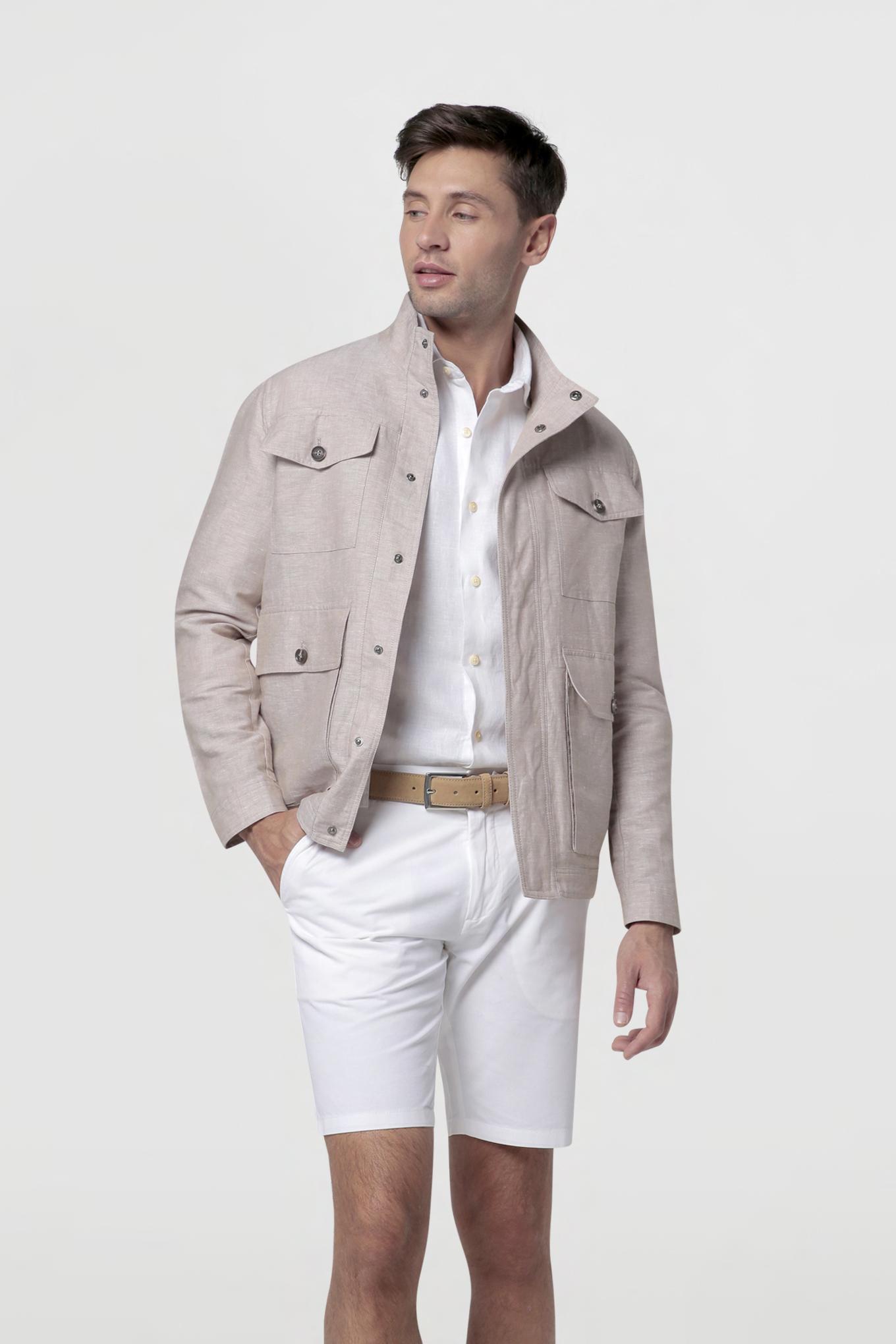 Jacket Beige Casual Man