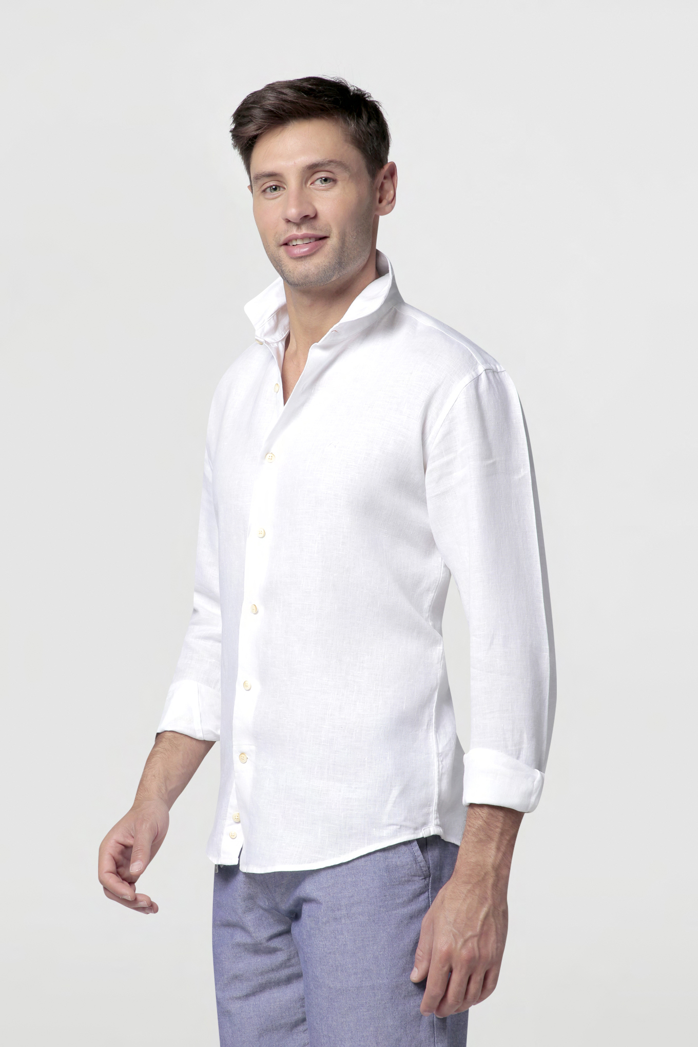 Bermuda White Casual Man