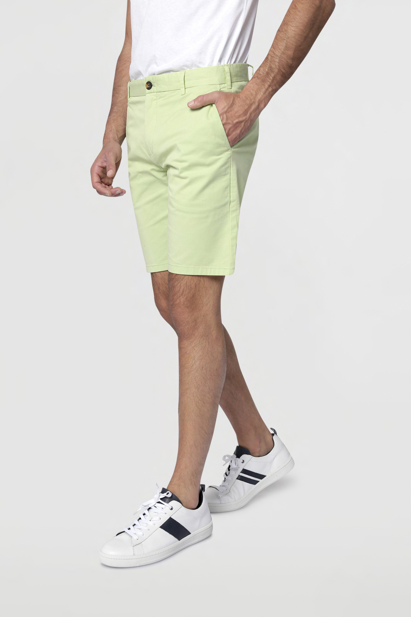 Bermuda Light Green Casual Man