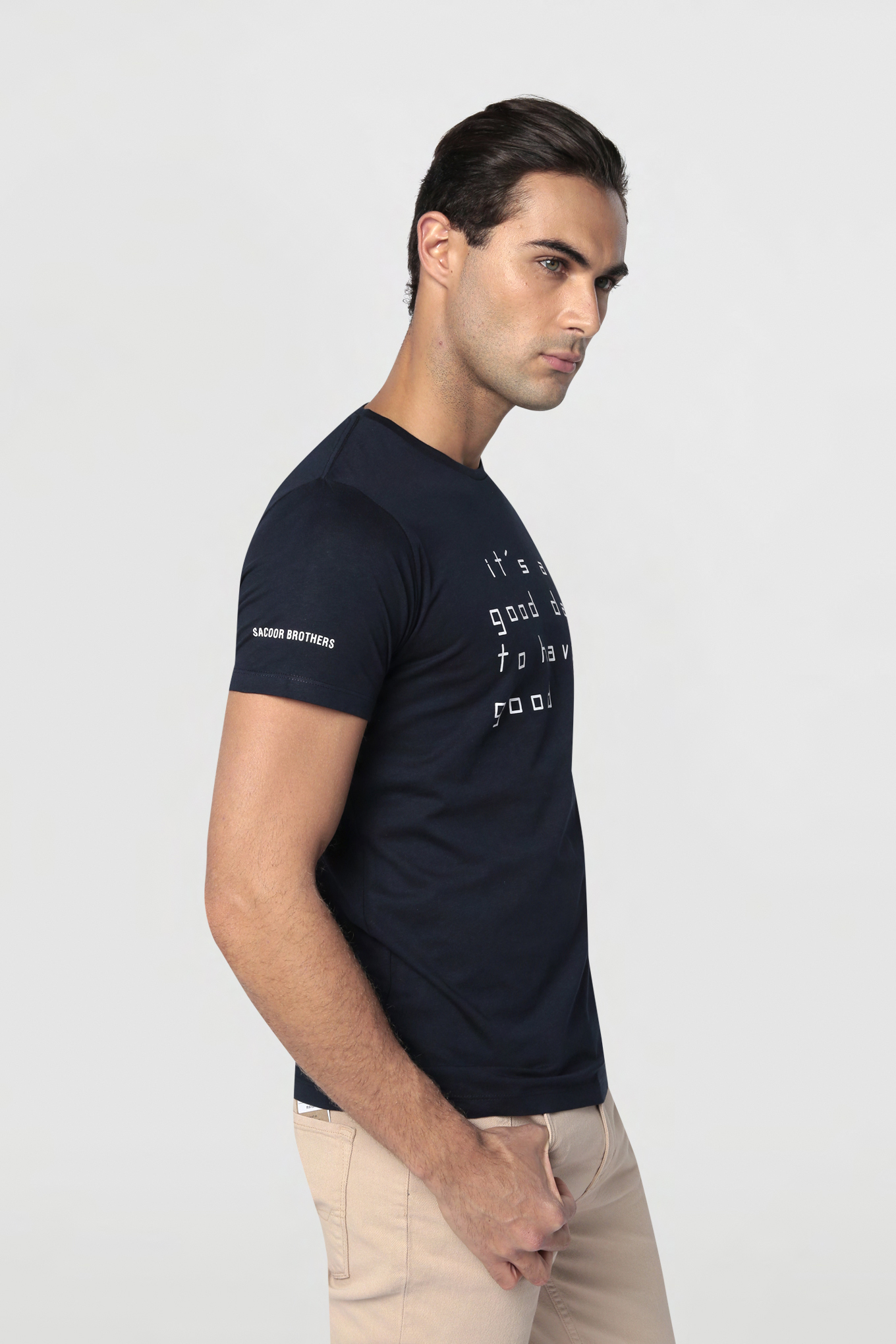 T-Shirt Dark Blue Casual Man