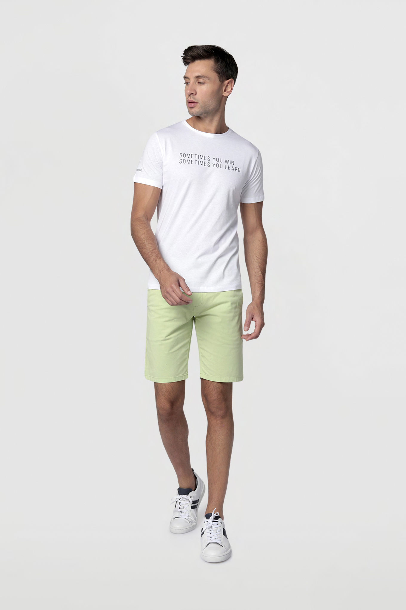T-Shirt White Casual Man