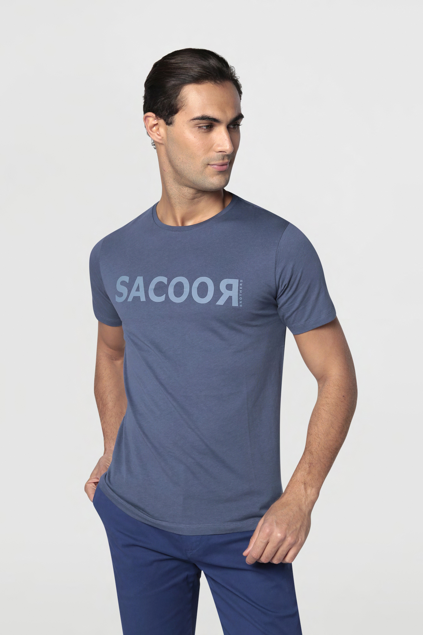 T-Shirt Medium Blue Sport Man