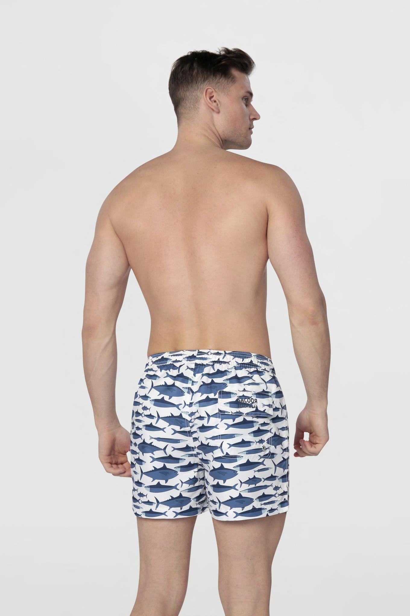 Beachwear Shorts White Sport Man