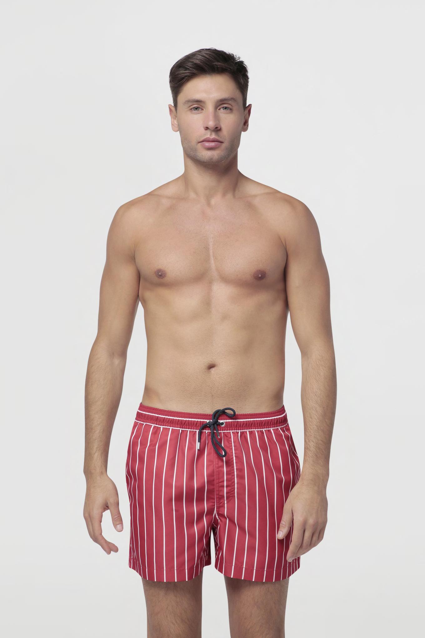 Beachwear Shorts Red Sport Man