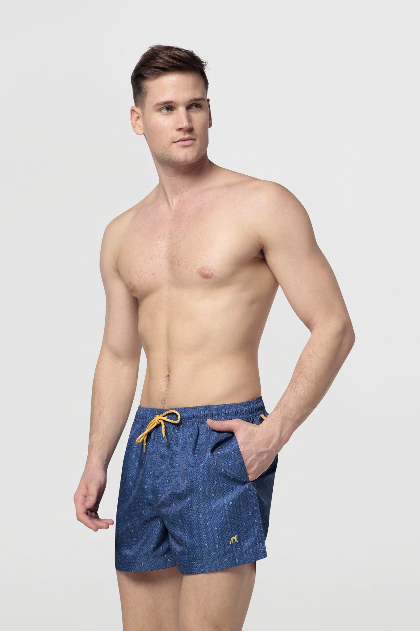 Beachwear Shorts Dark Blue Sport Man