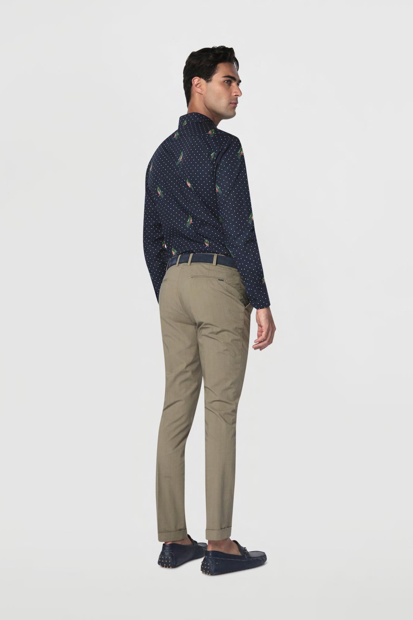 Chino Trousers Khaki Casual Man