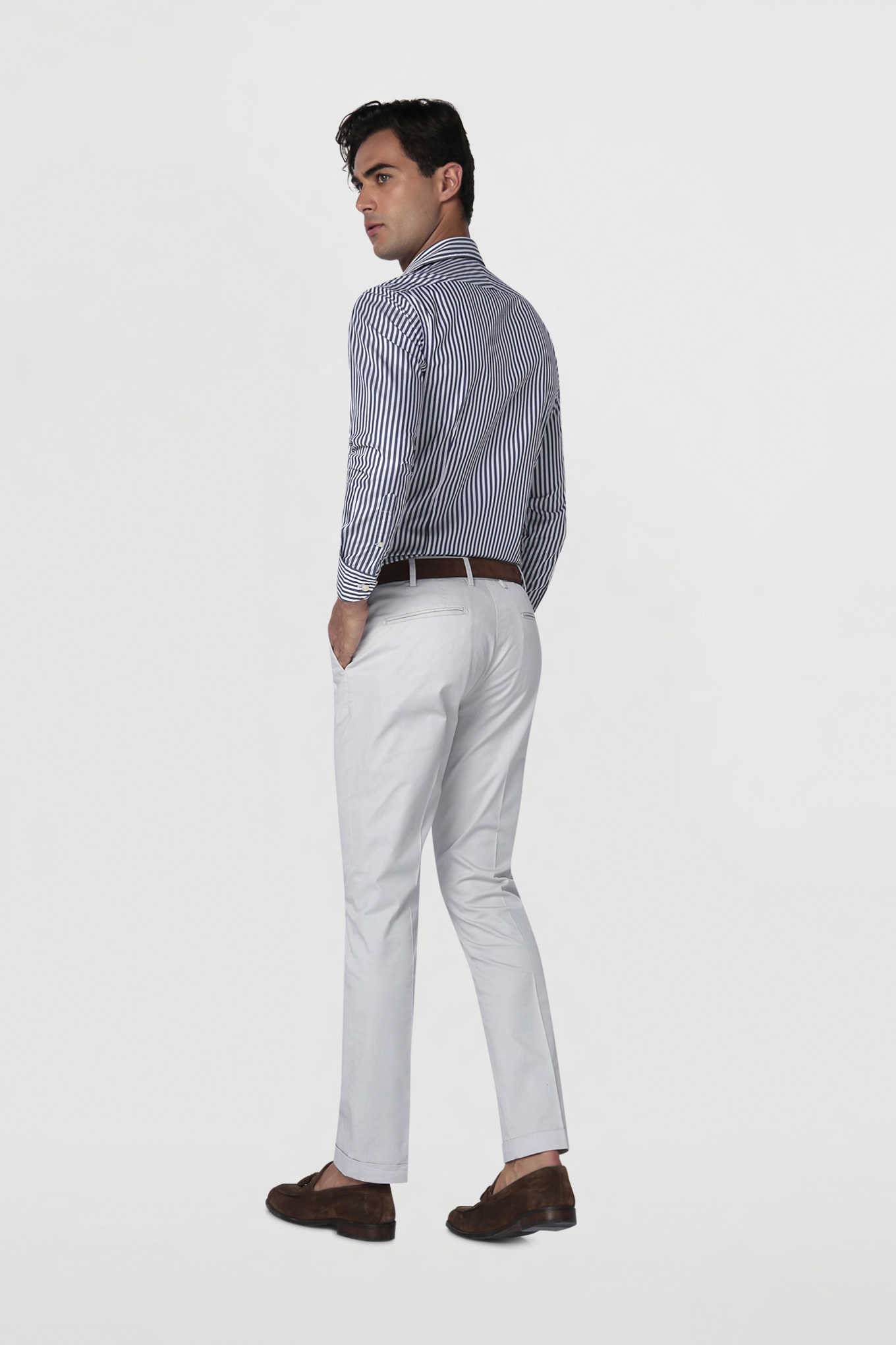 Chino Trousers Light Grey Casual Man