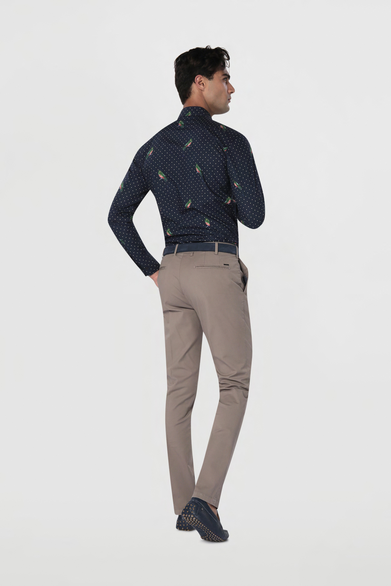 Chino Trousers Dark Beige Casual Man