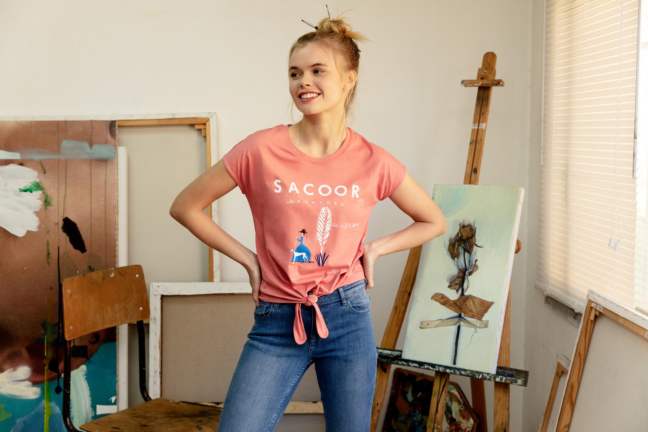 T-Shirt Pink Sport Woman